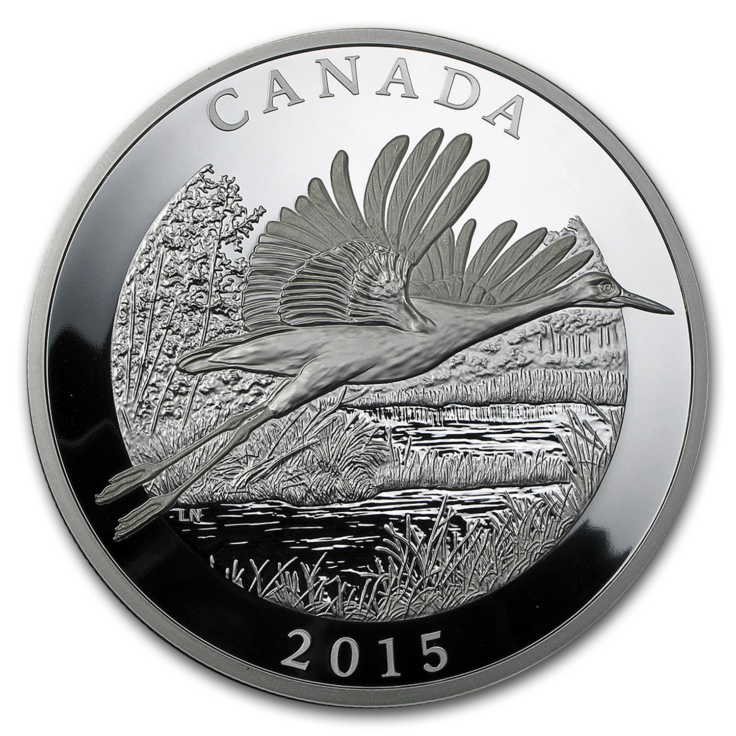 2015 Canada 1 2 Kilo Proof Silver 125 Whooping Crane