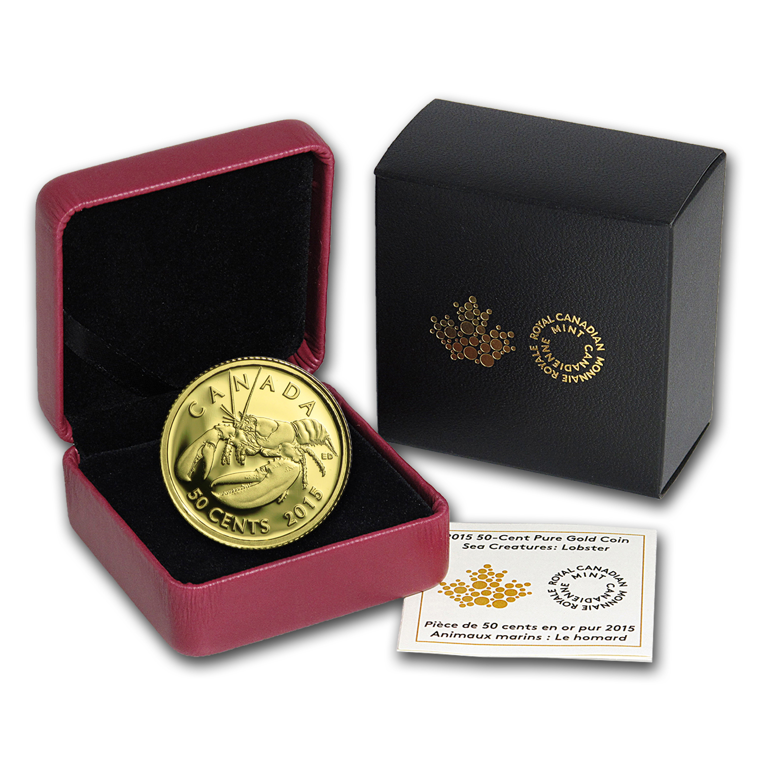2015 Canada 1/25 oz Proof Gold $0.50 Sea Creatures: Lobster