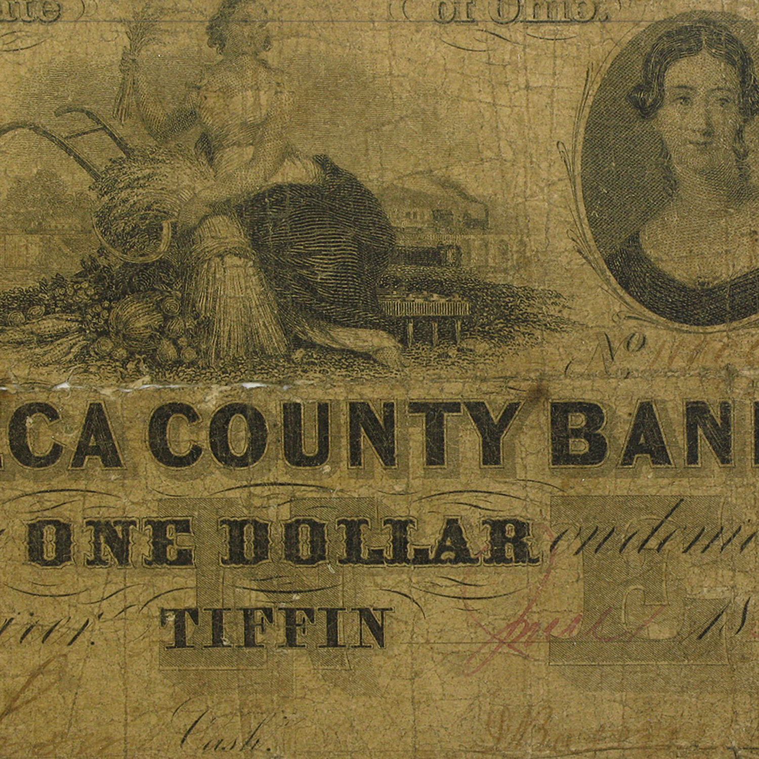 1856 Seneca Co Bank of Tiffin, Ohio, $1.00 Good