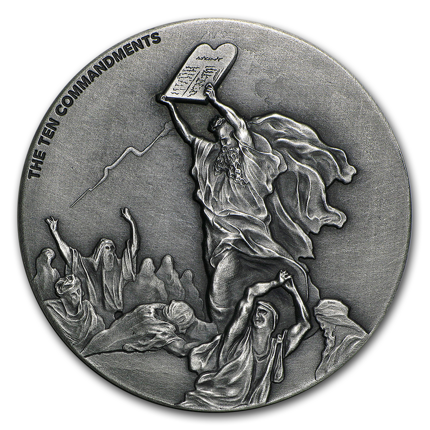 2 Oz Silver Coin Biblical Series Ten Commandments