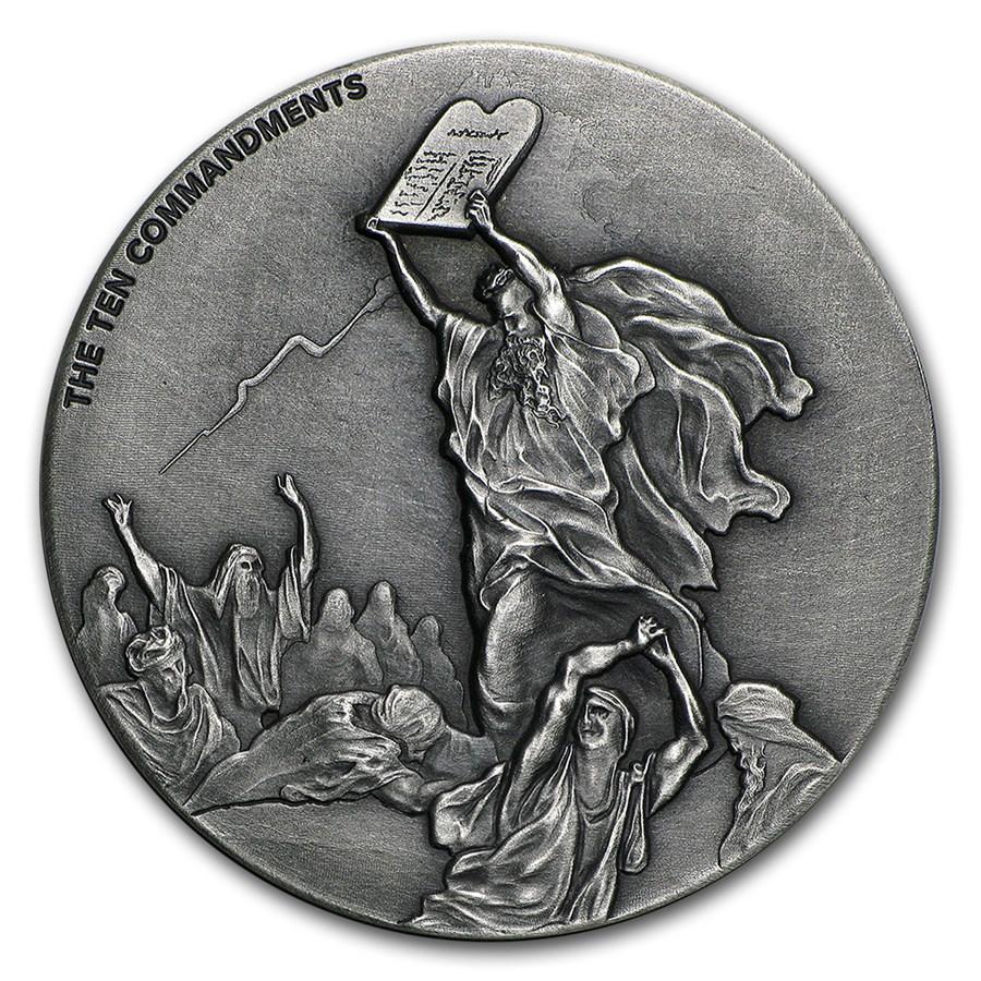 2 Oz Silver Coin Biblical Series Ten Commandments