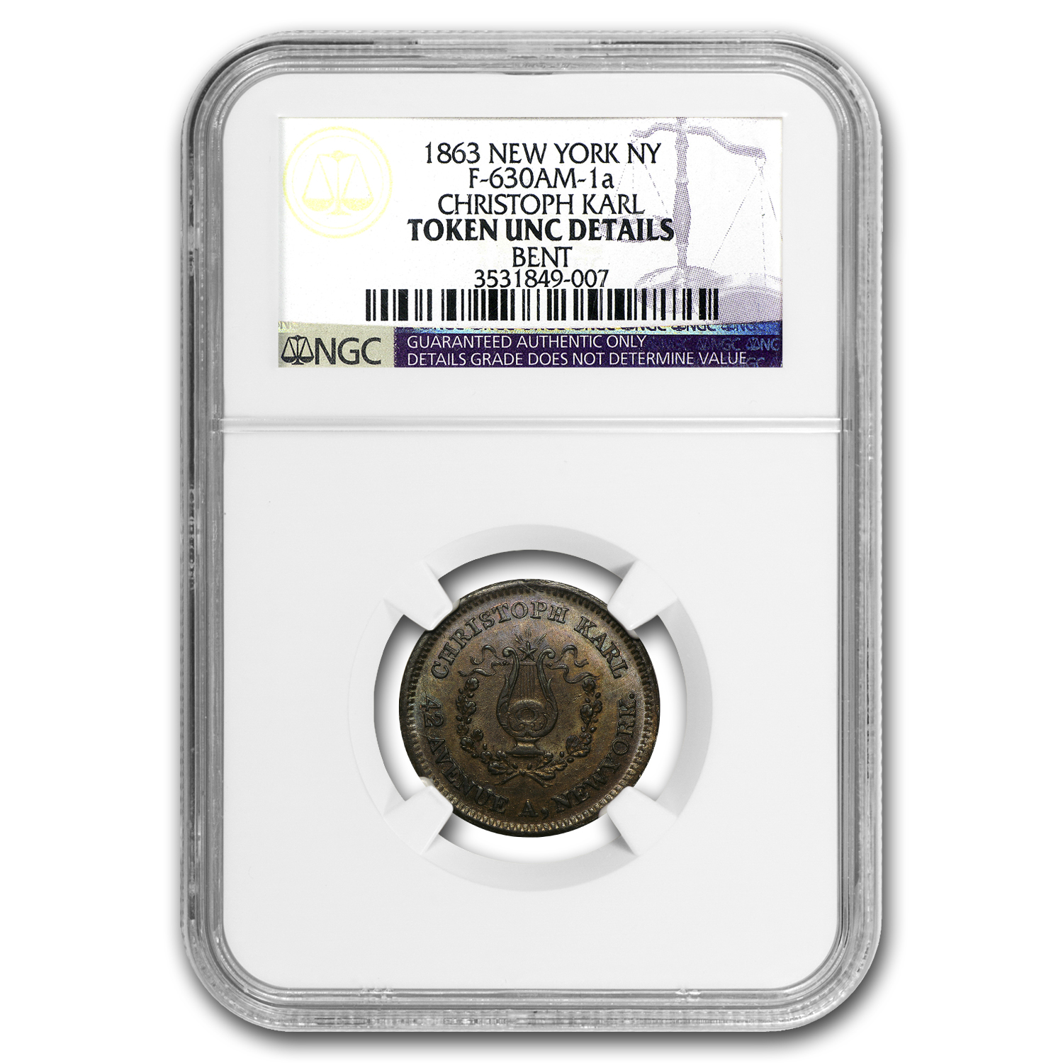Civil War Tokens VF-Unc NGC (Minor Problems)
