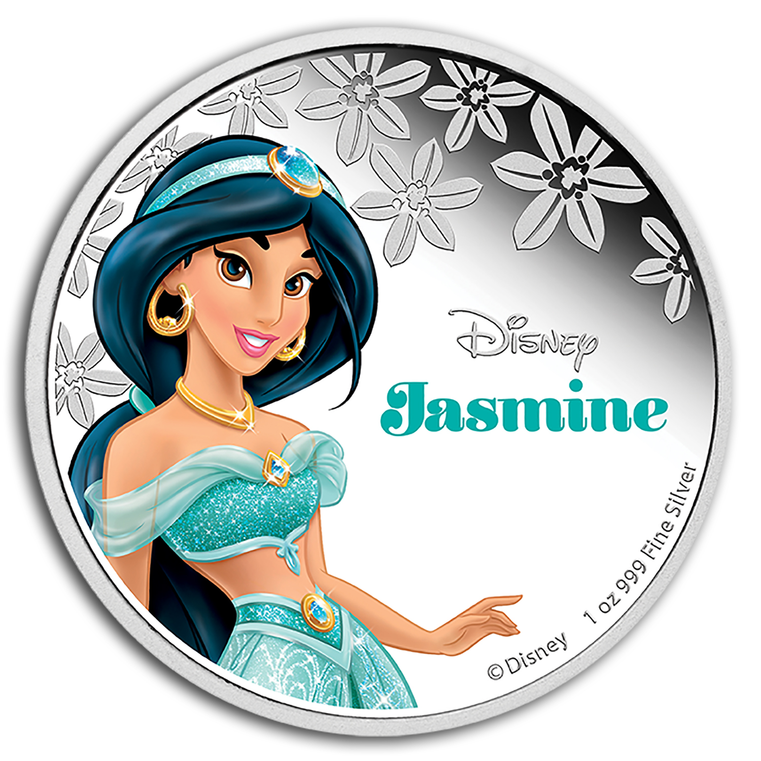 2015 Niue 1 oz Silver $2 Disney Princess Jasmine