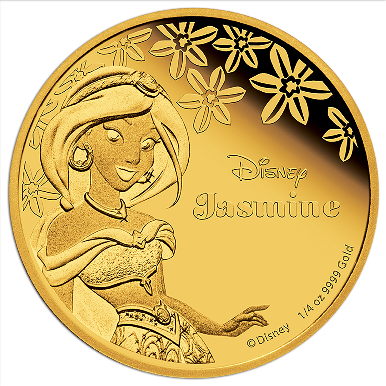 2015 Niue 1/4 oz Proof Gold $25 Disney Princess Jasmine