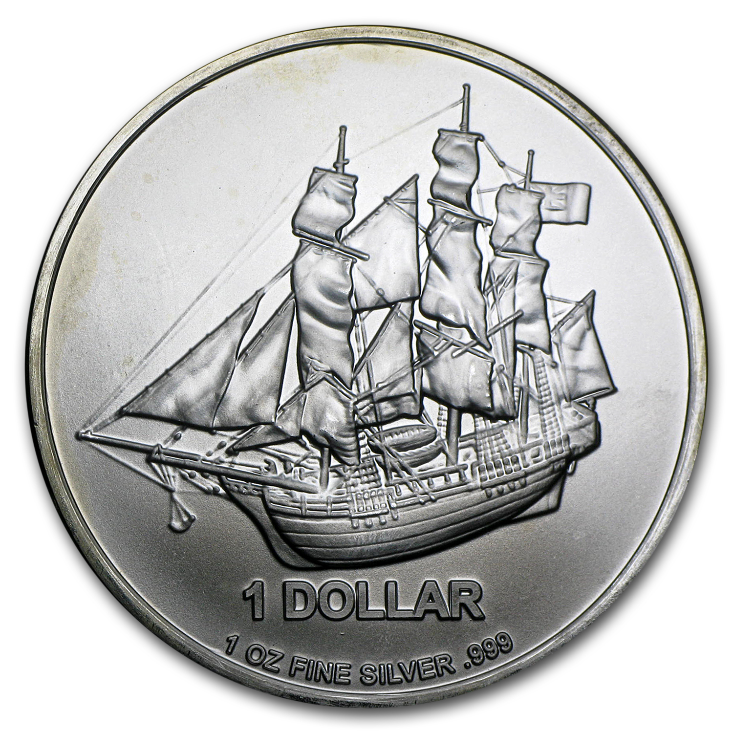 Cook Islands 1 oz Silver Bounty Coin (Random dates, Abrasions)