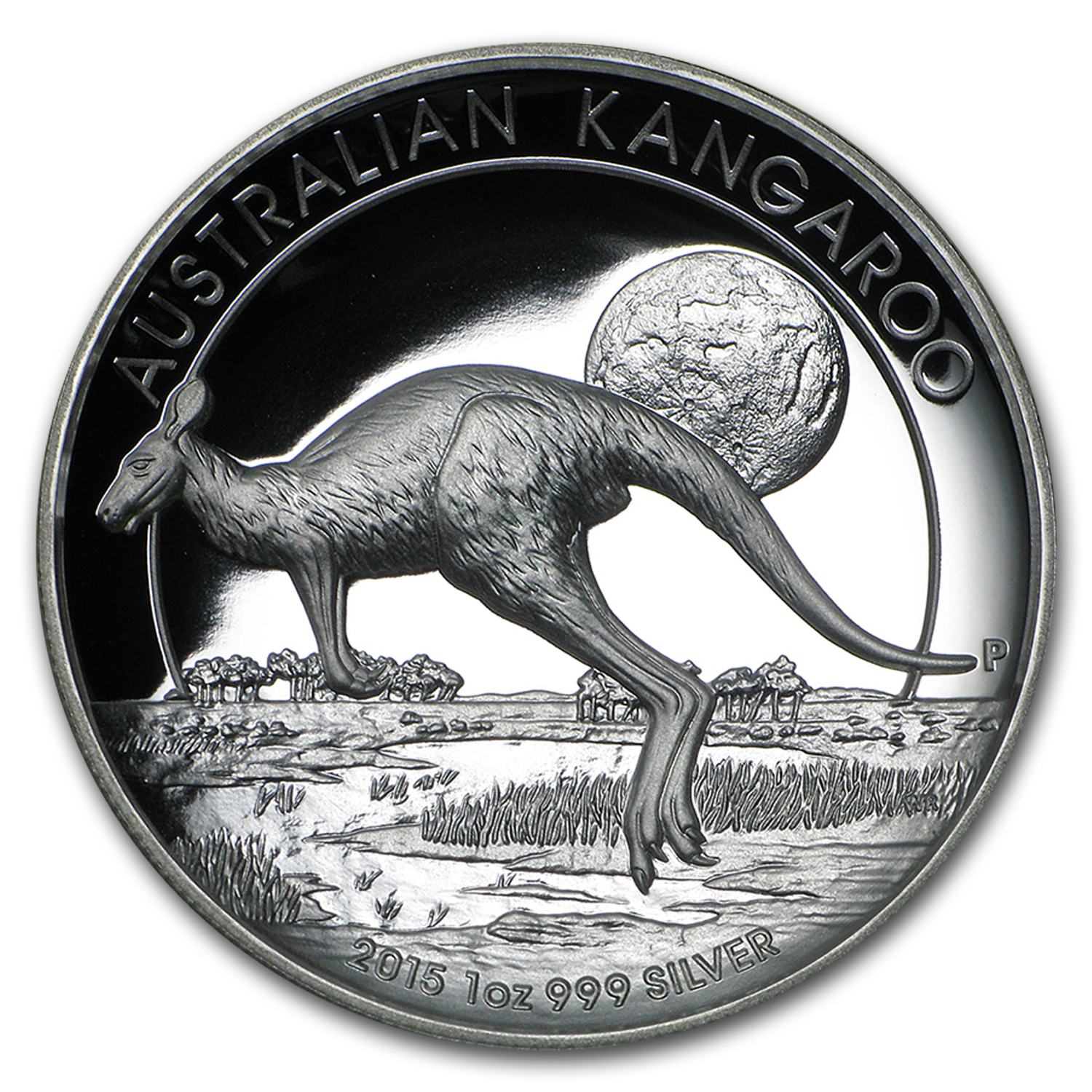2015 Australia 1 oz Silver Kangaroo Proof (High Relief)