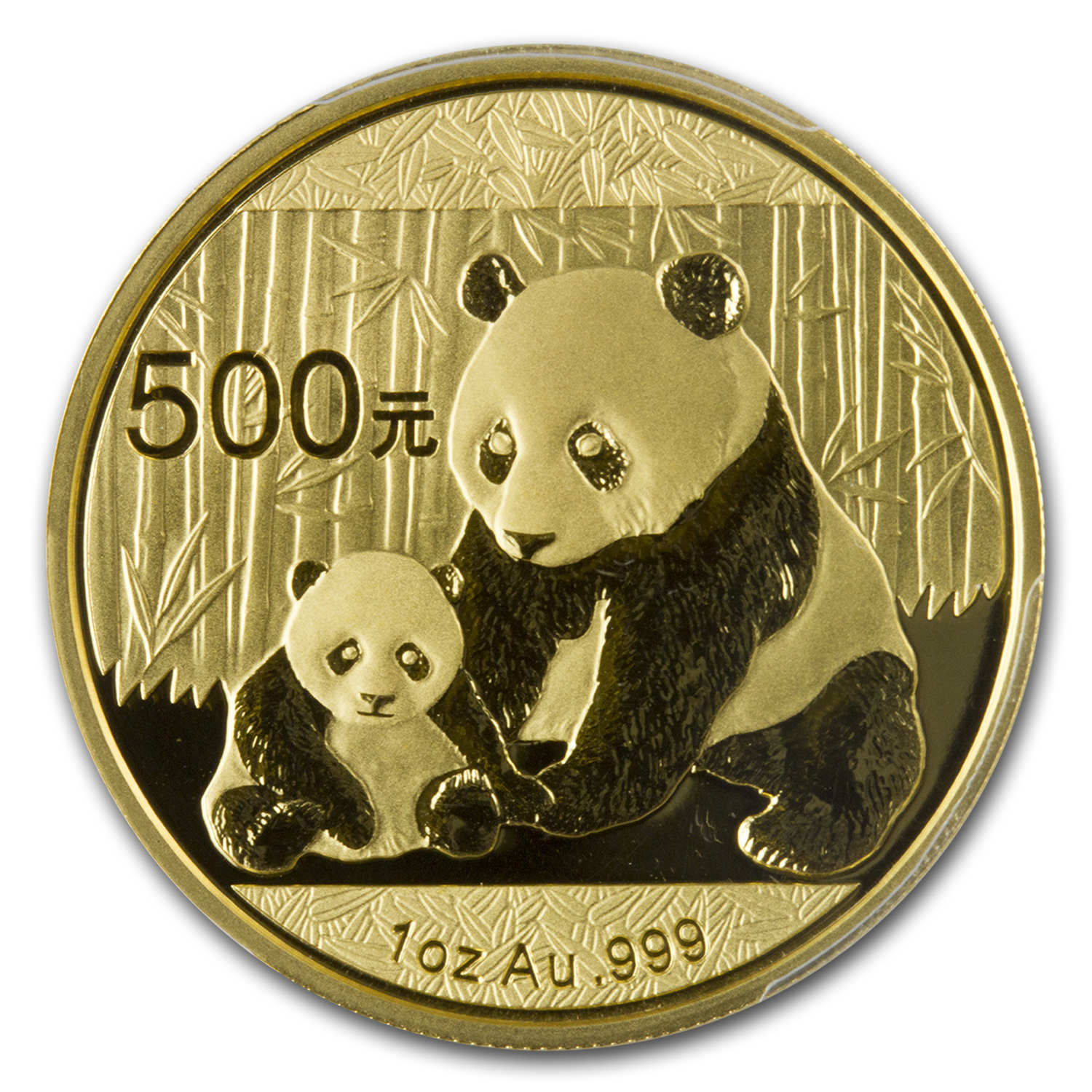 2012 China 1 oz Gold Panda MS-68 PCGS
