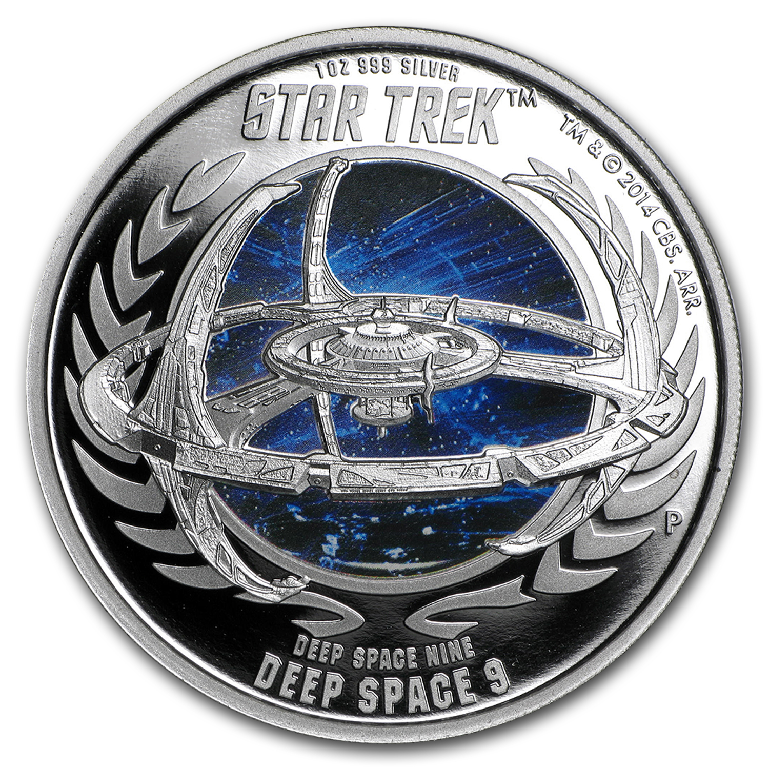 2015 Tuvalu 1 oz Silver Star Trek Proof (Deep Space 9 Station)