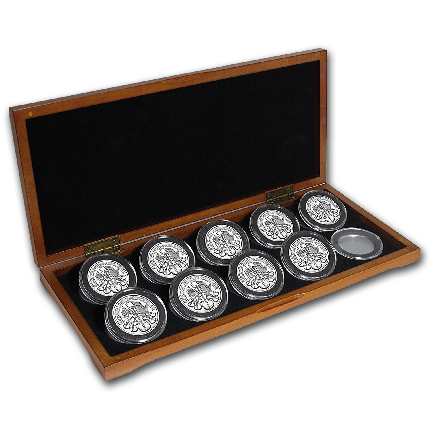 2008-2016 Austria 9-Coin 1 oz Silver Philharmonic Set