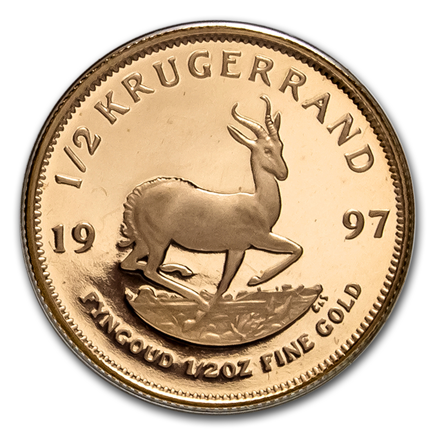 1997 South Africa 1/2 oz Proof Gold Krugerrand First Day Limited