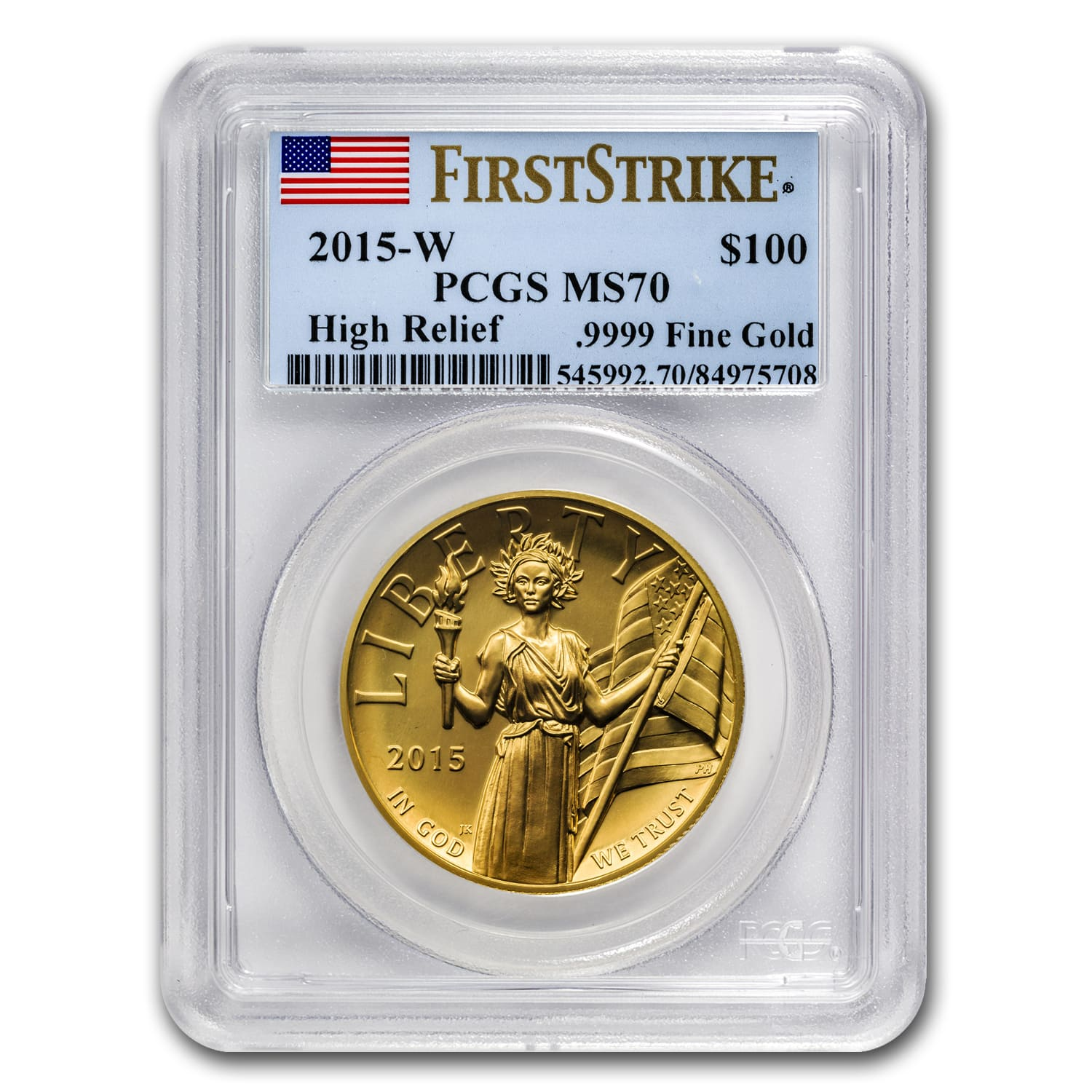 2015 High Relief American Liberty Gold MS-70 PCGS (First Strike)
