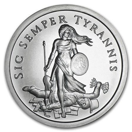 2015 2 Oz Silver Round Sic Semper Tyrannis Silver