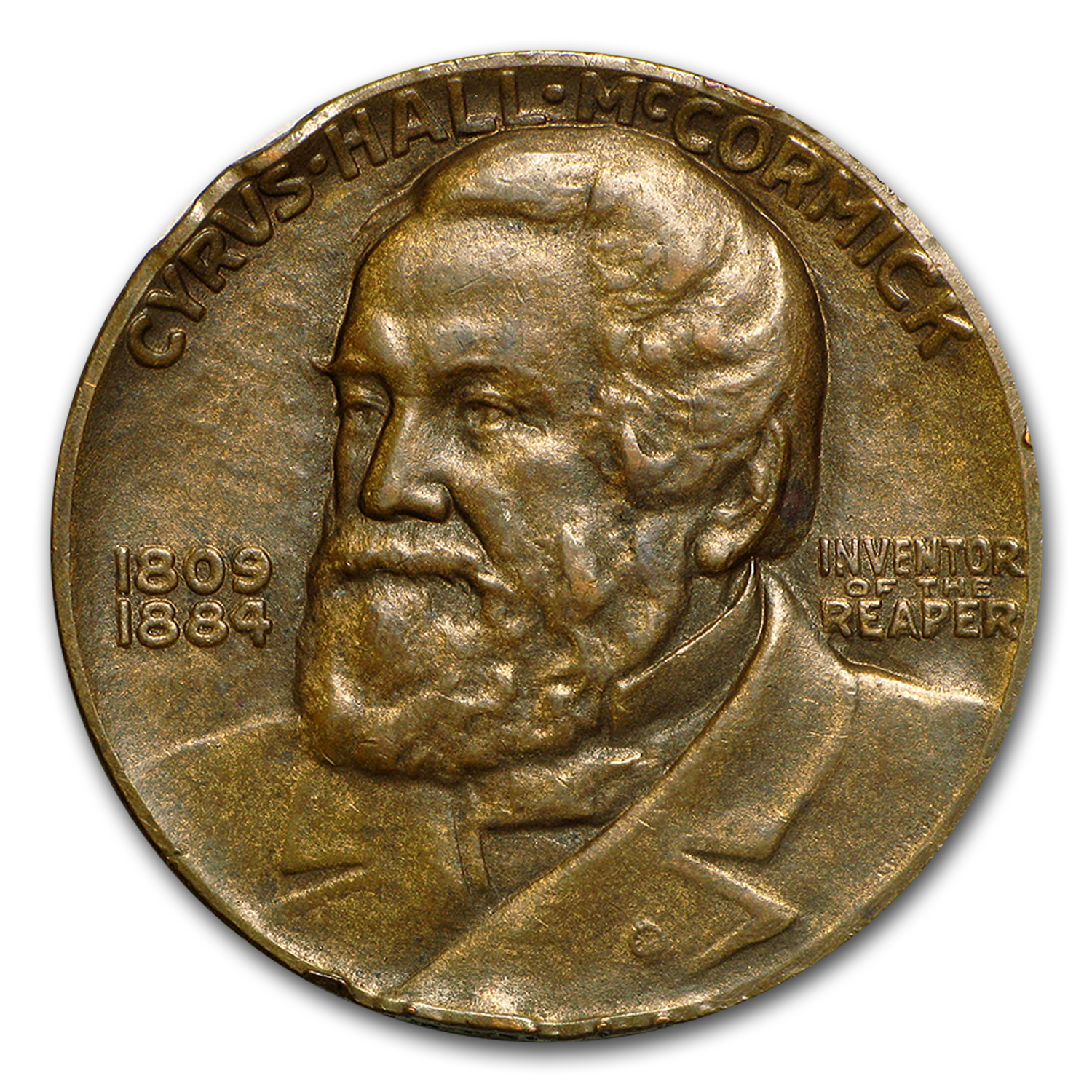1931 Centennial of the Reaper Cyrus McCormick Bronze Medal