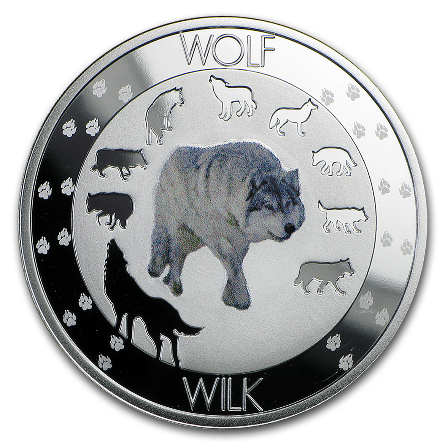 2015 Niue Silver Symbols of Nature Wolf Proof