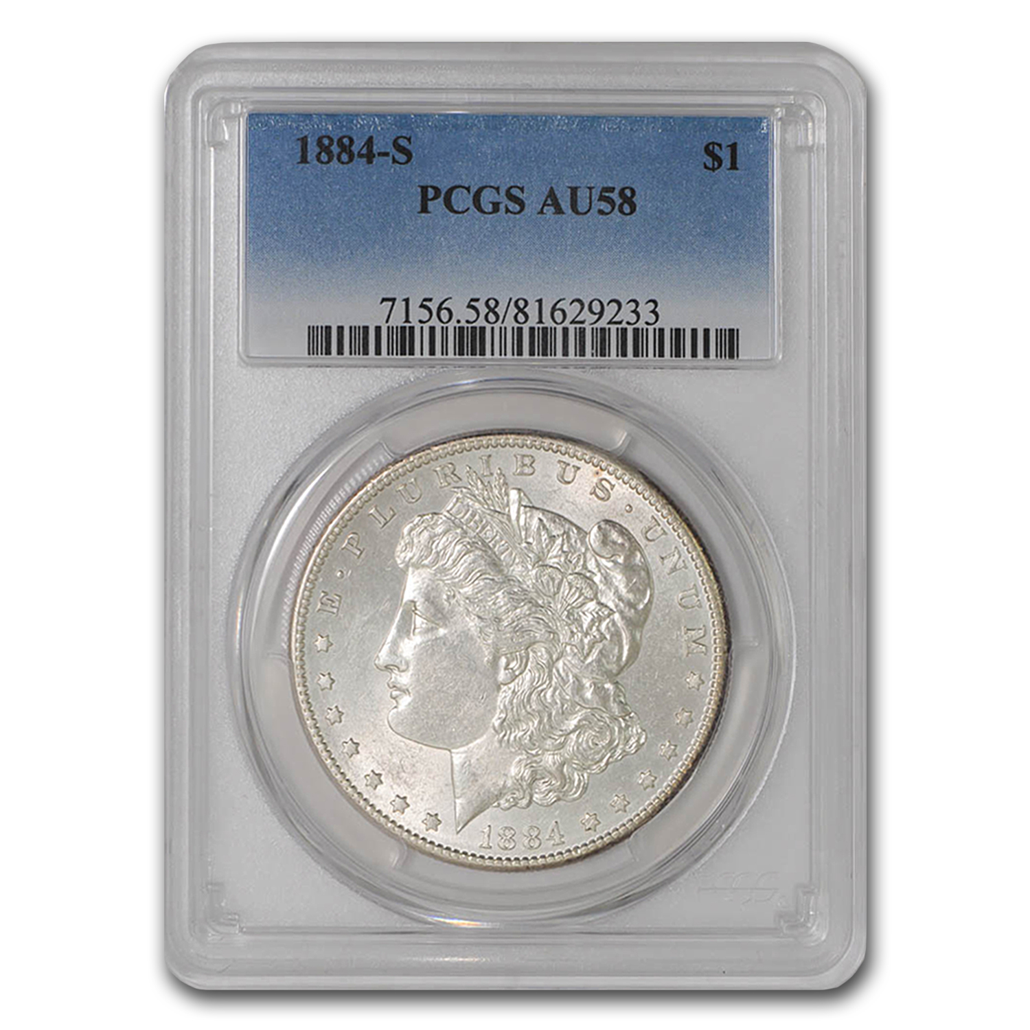 1884-S Morgan Dollar AU-58 PCGS