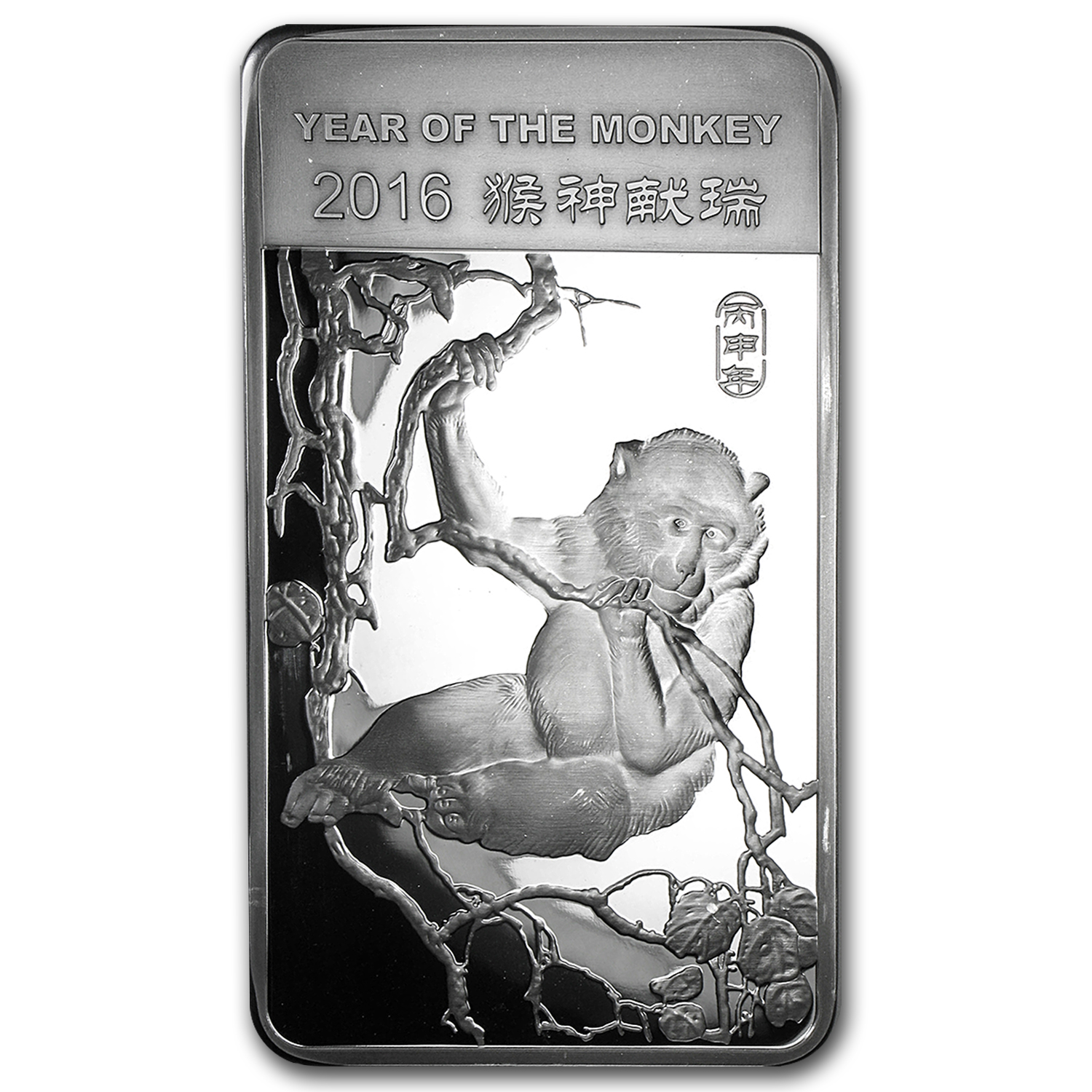 10 oz Silver Bar - APMEX (2016 Year of the Monkey)
