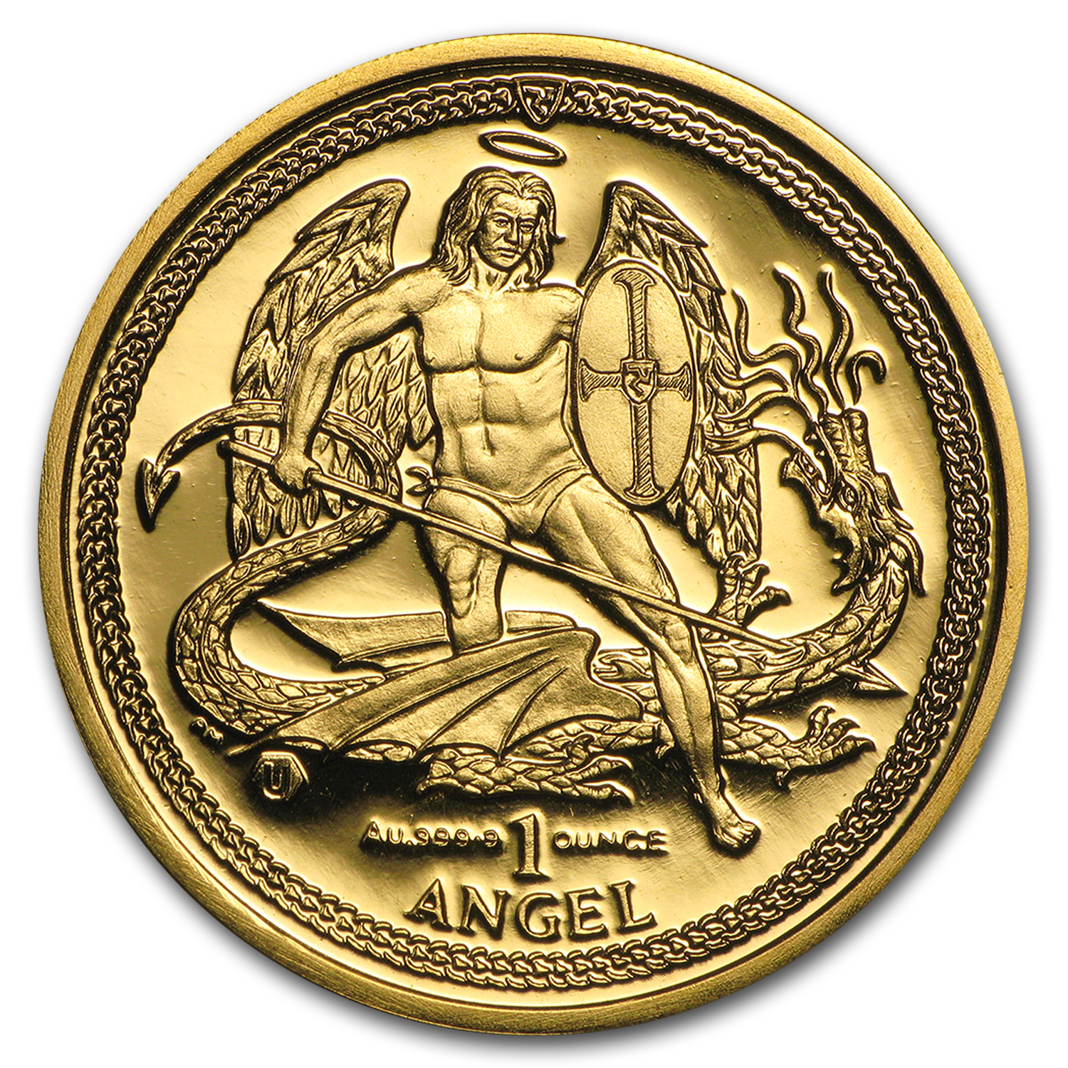 2015 Isle of Man 1 oz Gold Angel BU