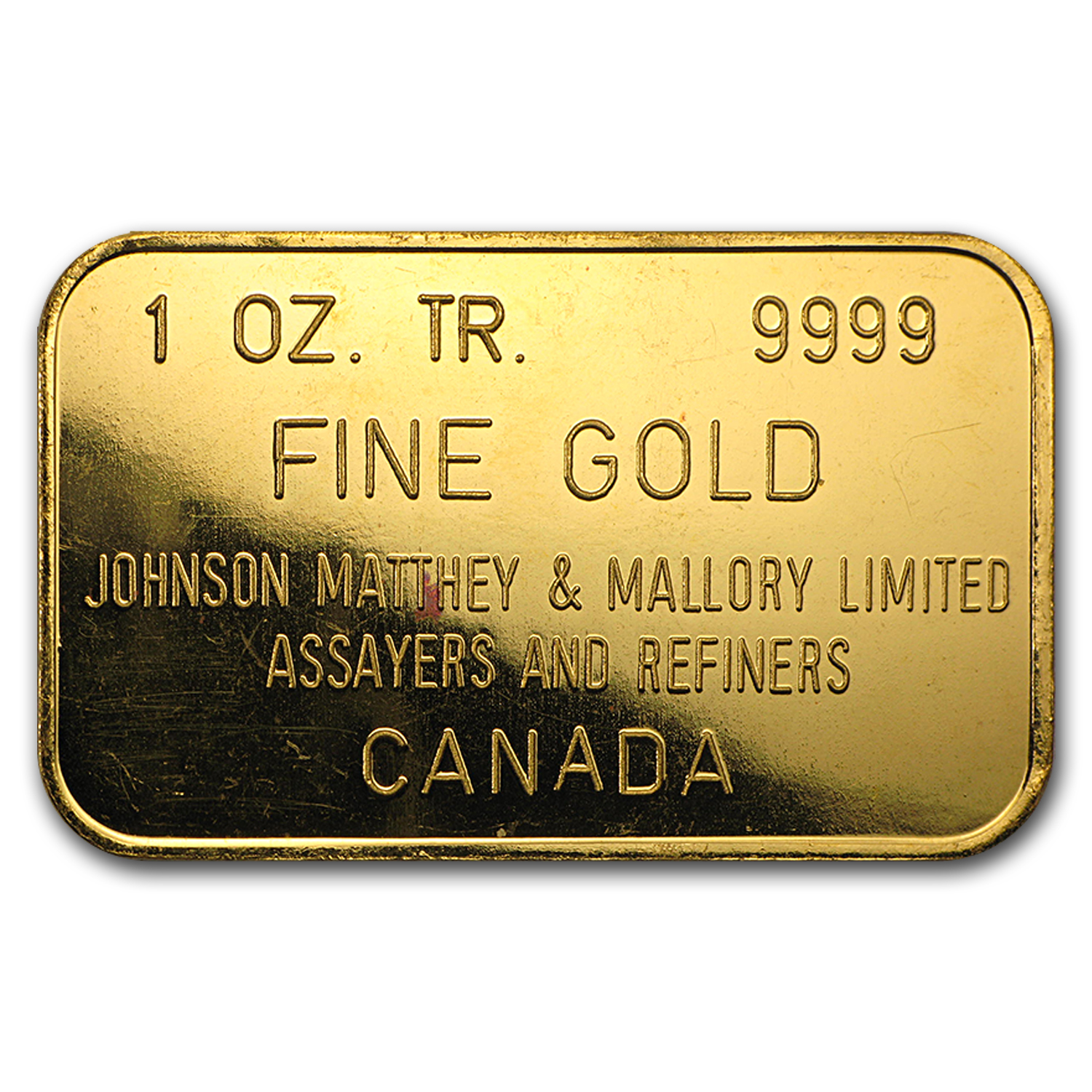 1 oz Gold Bar - Johnson Matthey & Mallory