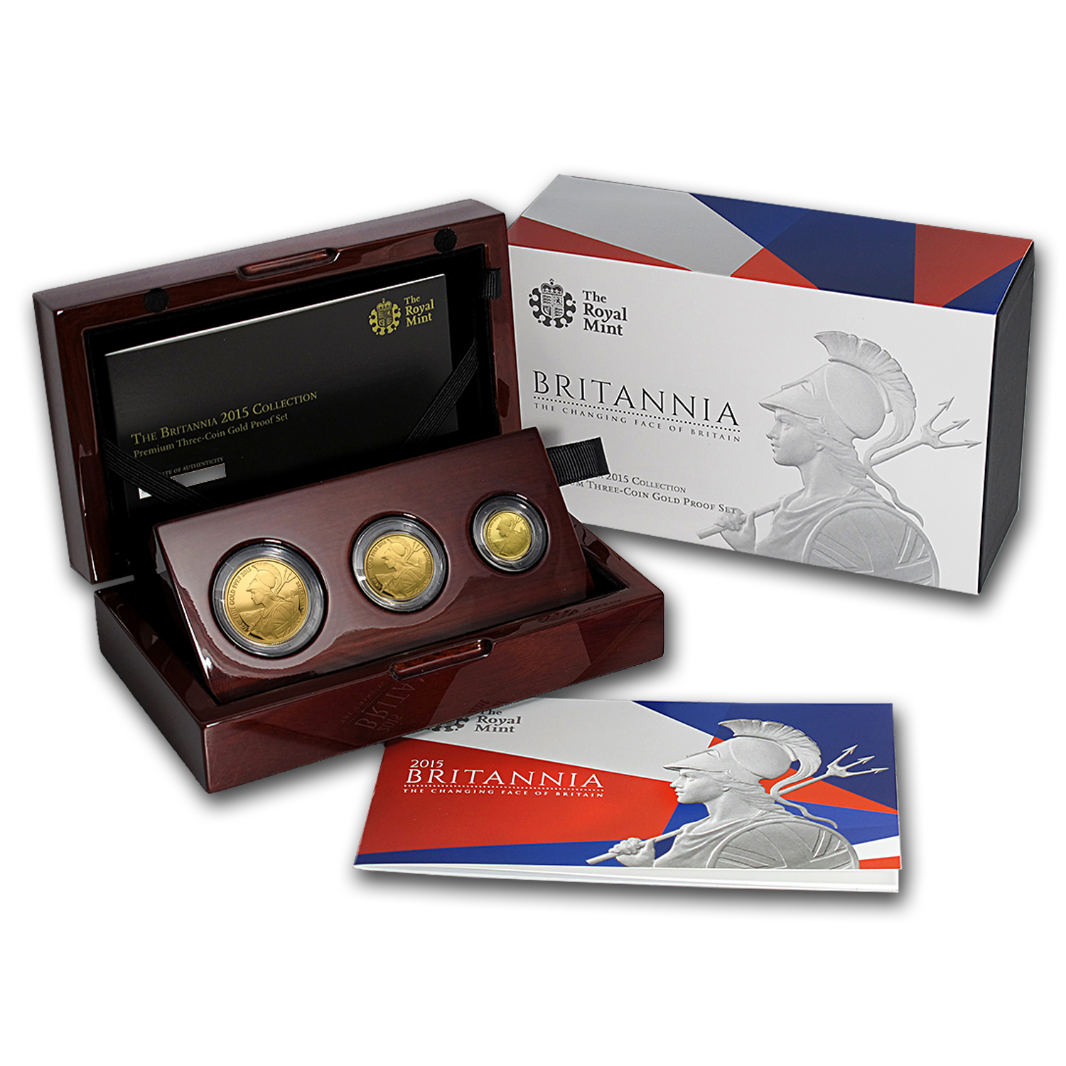 2015 Great Britain 3-Coin Premium Gold Proof Set