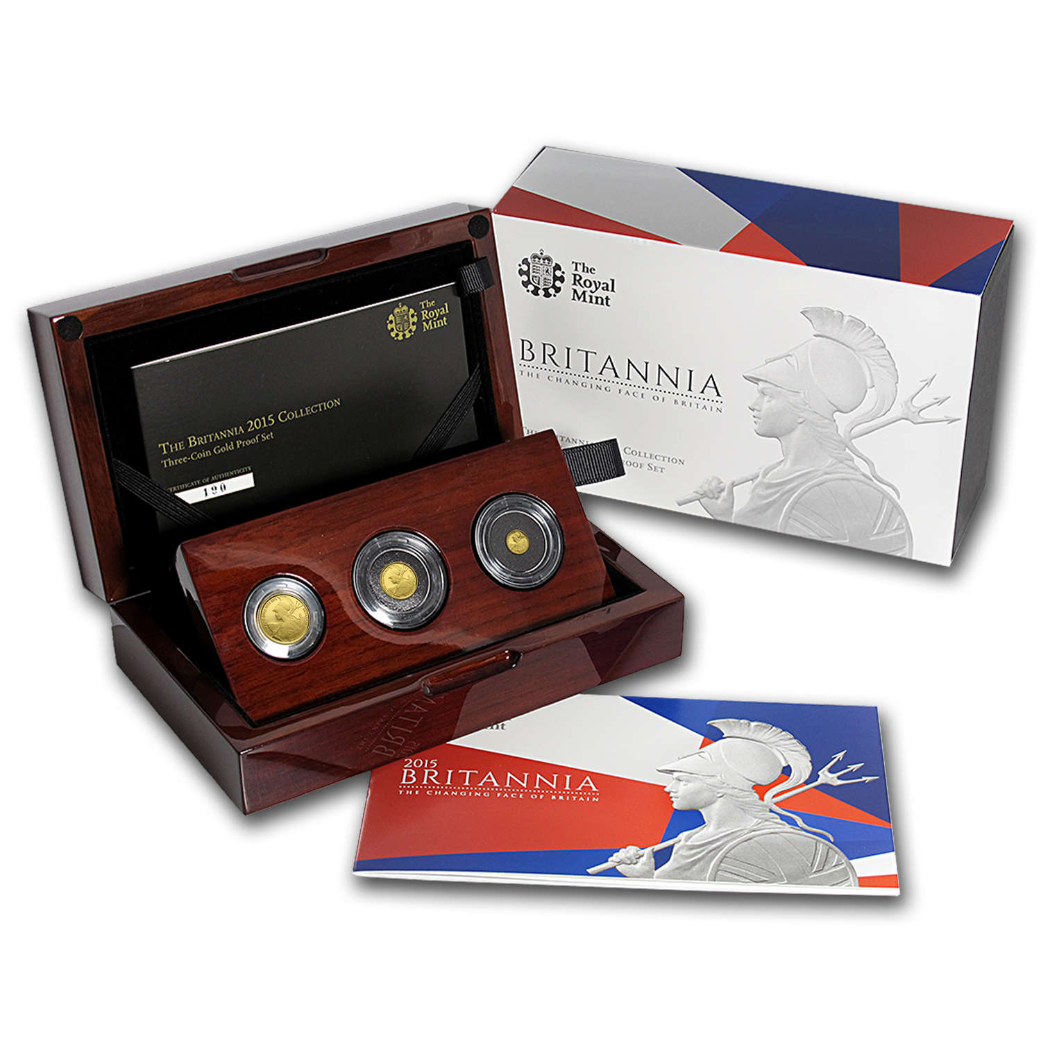 2015 Great Britain 3-Coin Gold Proof Set