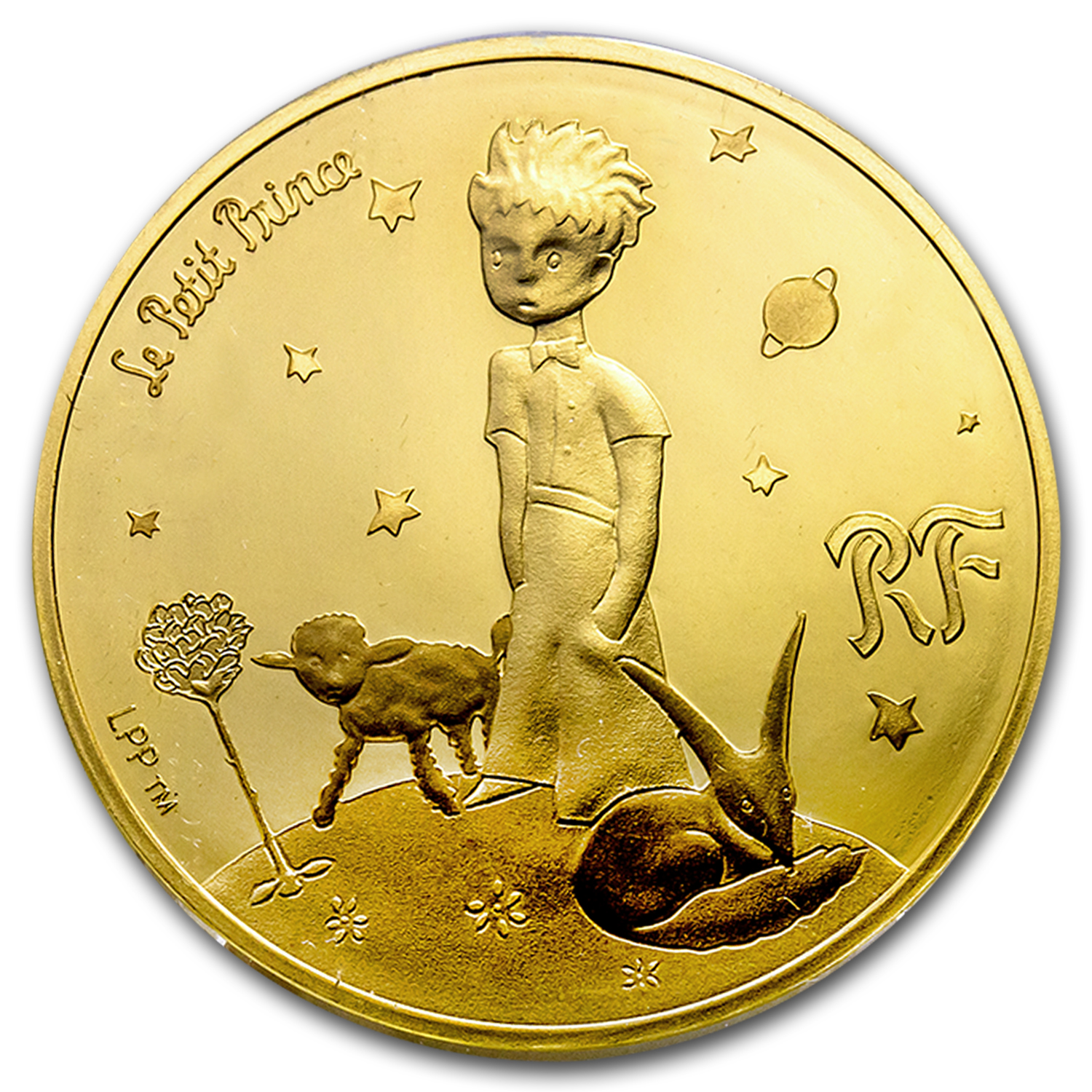 2015 France 1/4 oz Proof Gold €50 The Little Prince (Mutton)