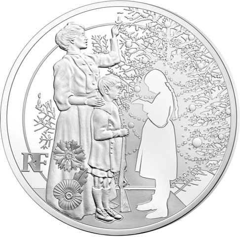 2015 France Silver €10 World War I Christmas Truce