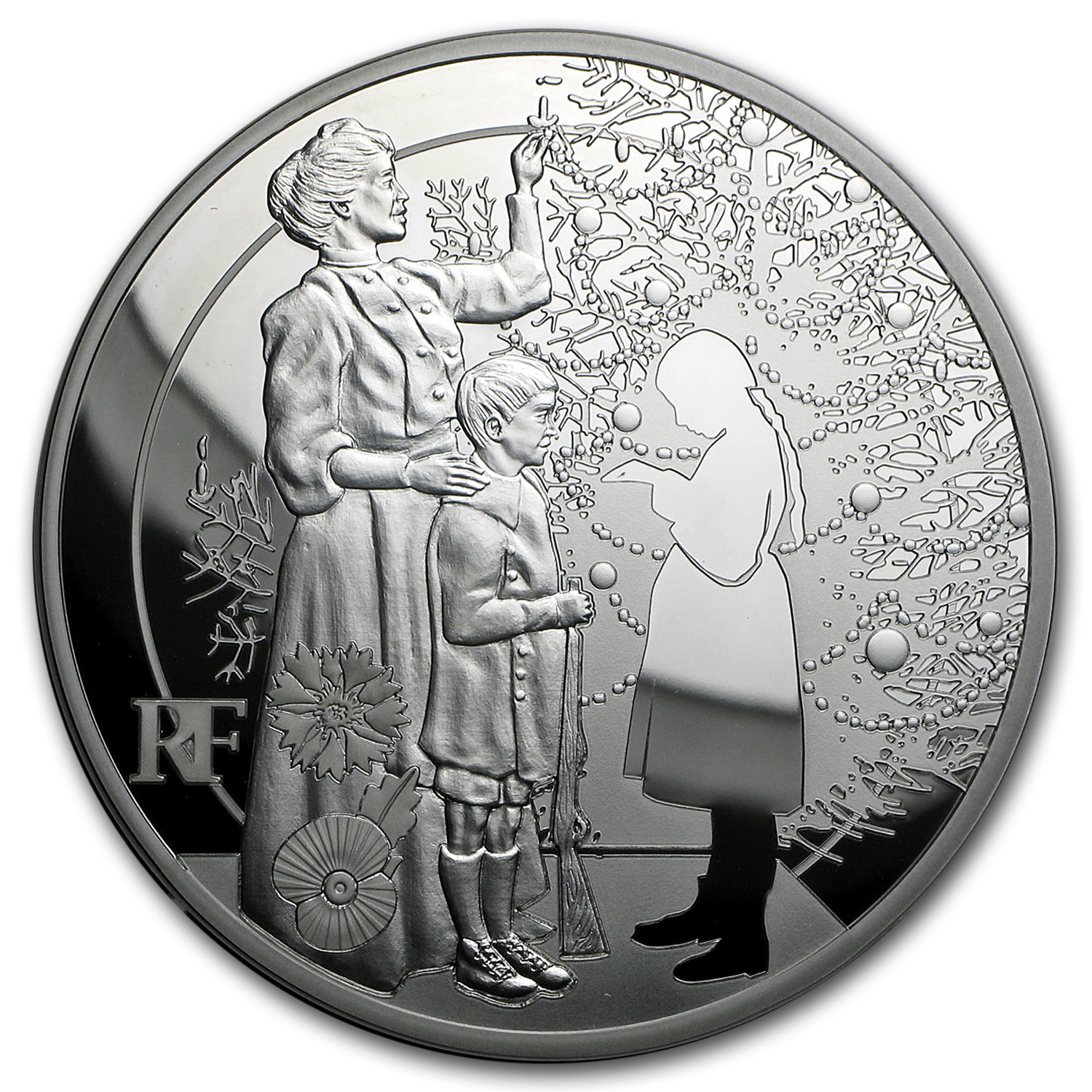 2015 France 5 oz Silver €50 World War I Christmas Truce