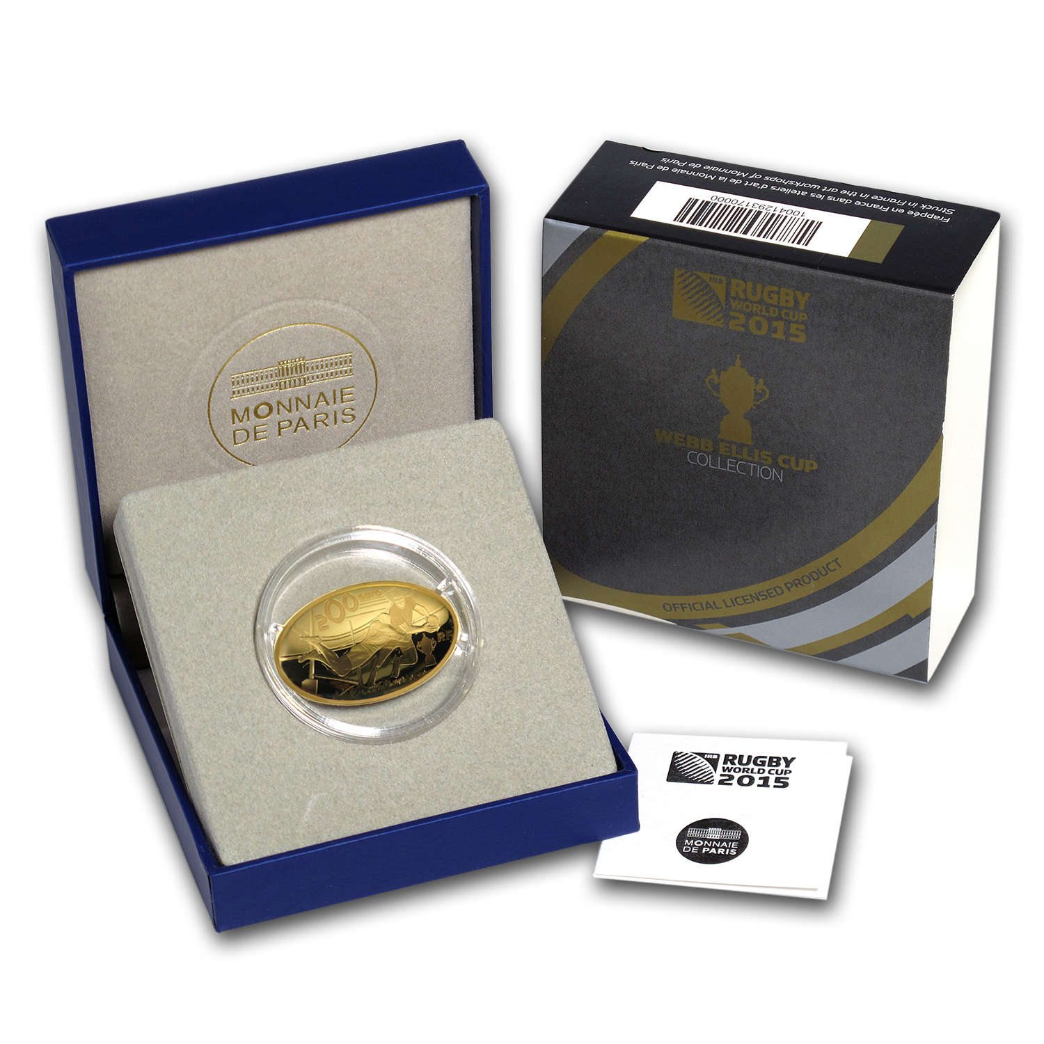 2015 France 1 oz Proof Gold €200 Rugby World Cup