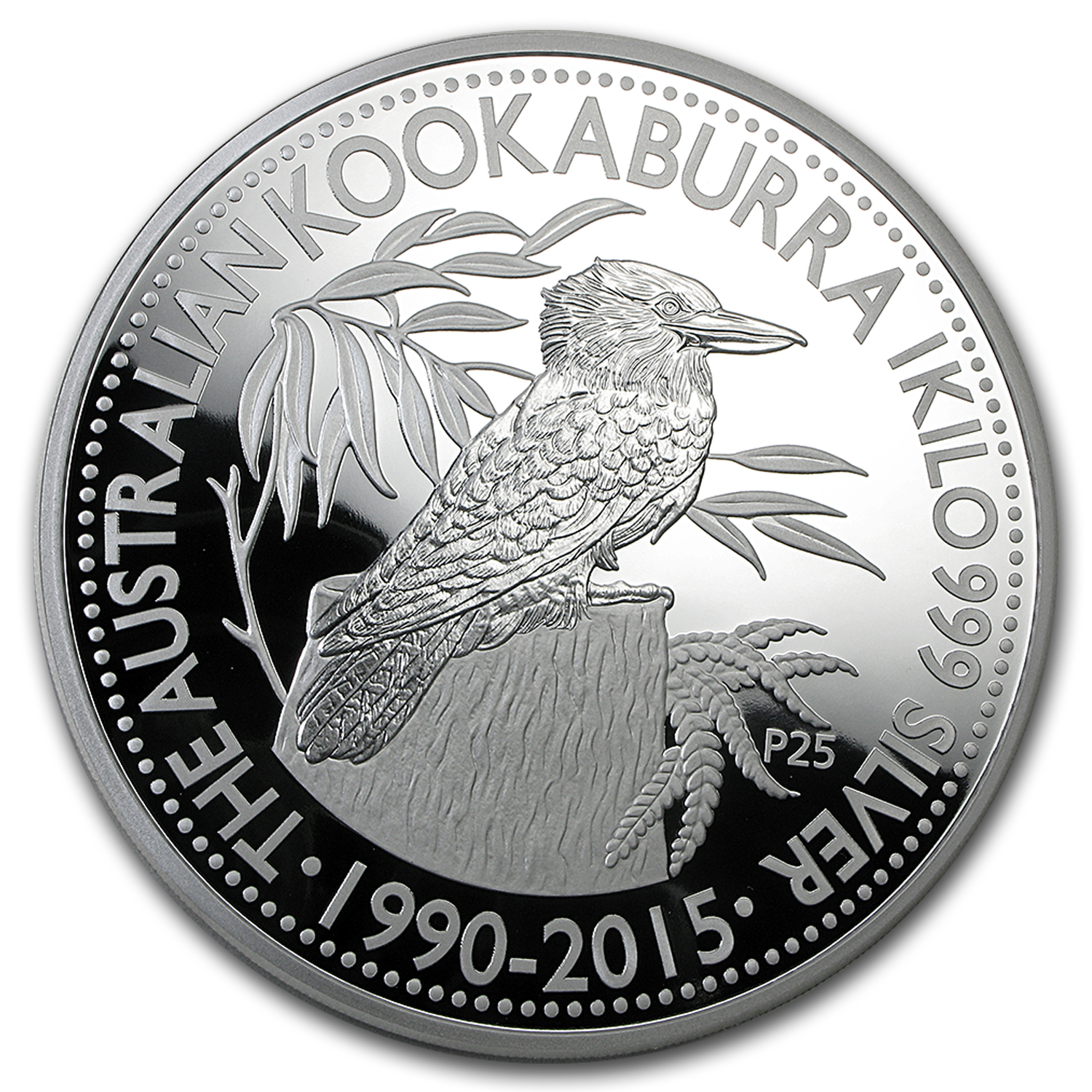 2015 Australia 1 Kilo Proof Silver Kookaburra 25th