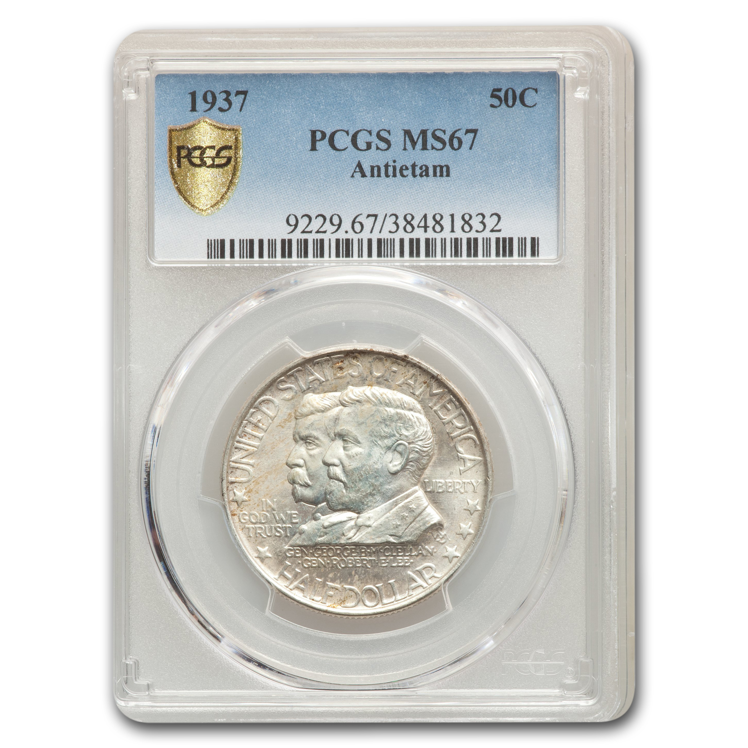 1937 Battle of Antietam Anniversary Half Dollar MS-67 PCGS