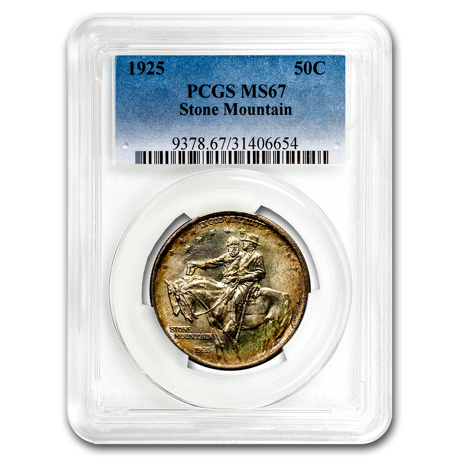 1925 Stone Mountain Memorial Half MS-67 PCGS (Beautifully Toned)