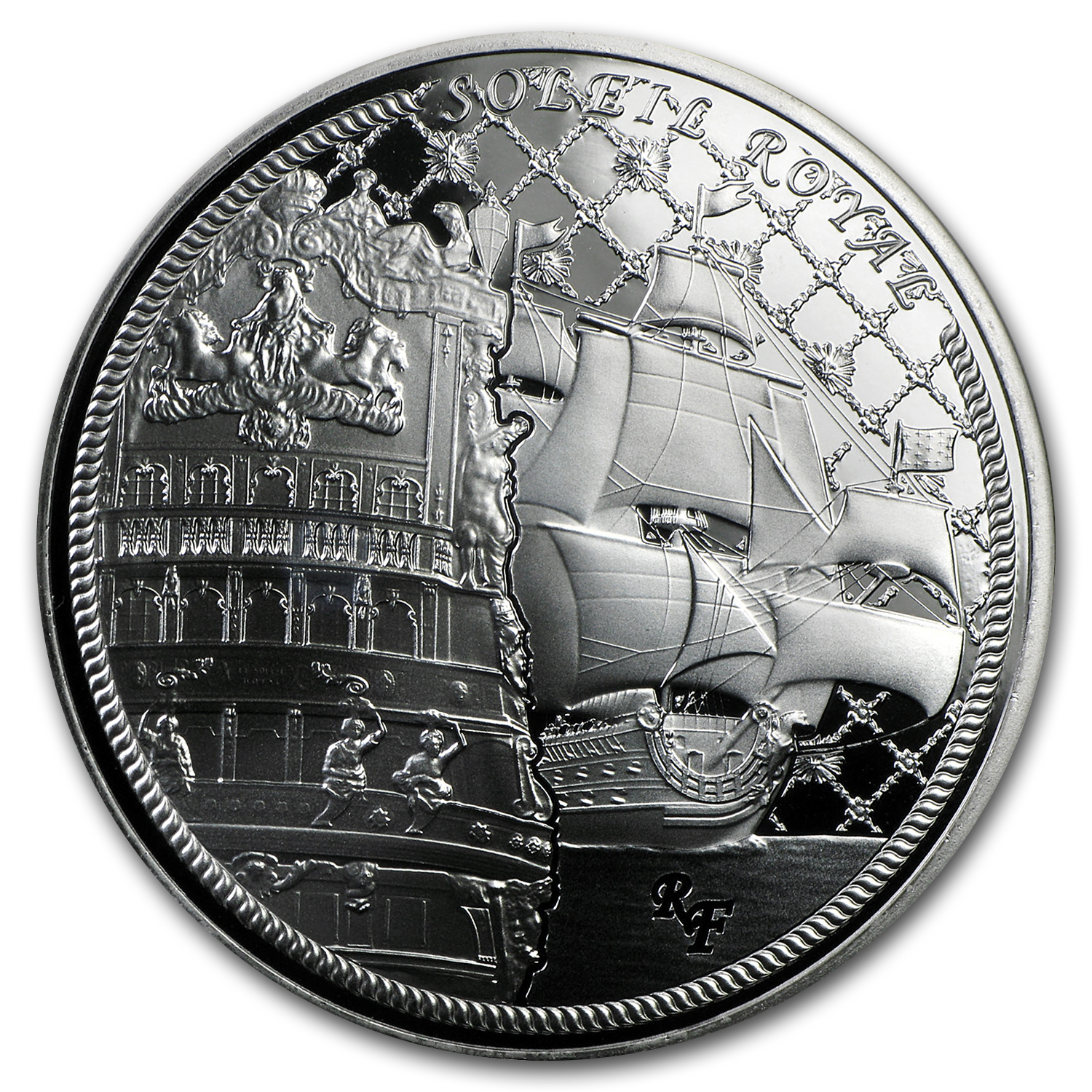 2015 Silver €10 Great French Ships Proof (Soleil Royal)