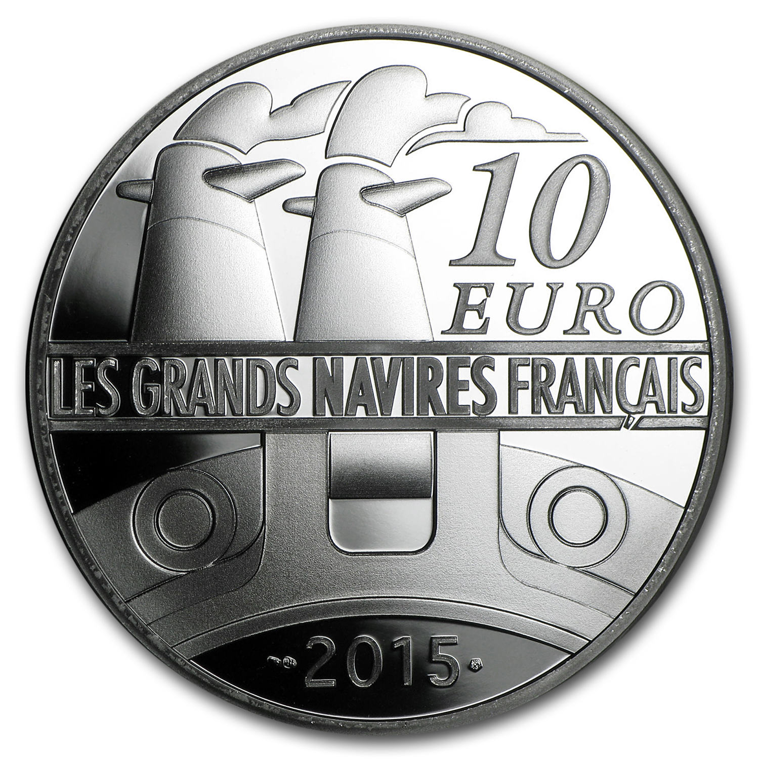 2015 Silver €10 Great French Ships Proof (La Gironde)