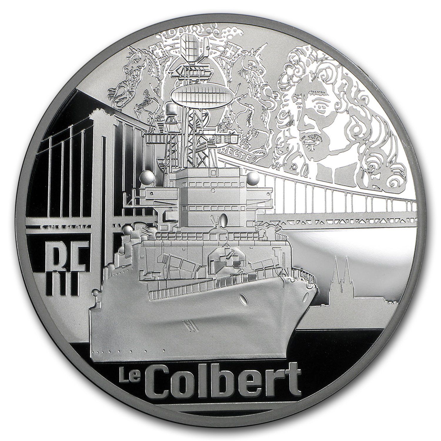 2015 5 oz Silver €50 Great French Ships Proof (Le Colbert)