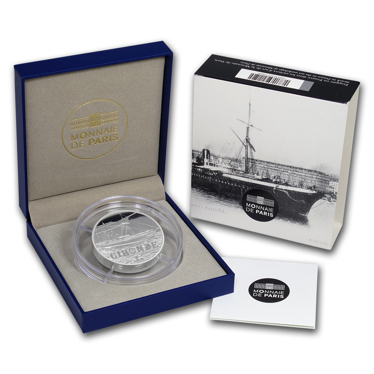 2015 5 oz Silver €50 Great French Ships Proof (La Gironde)