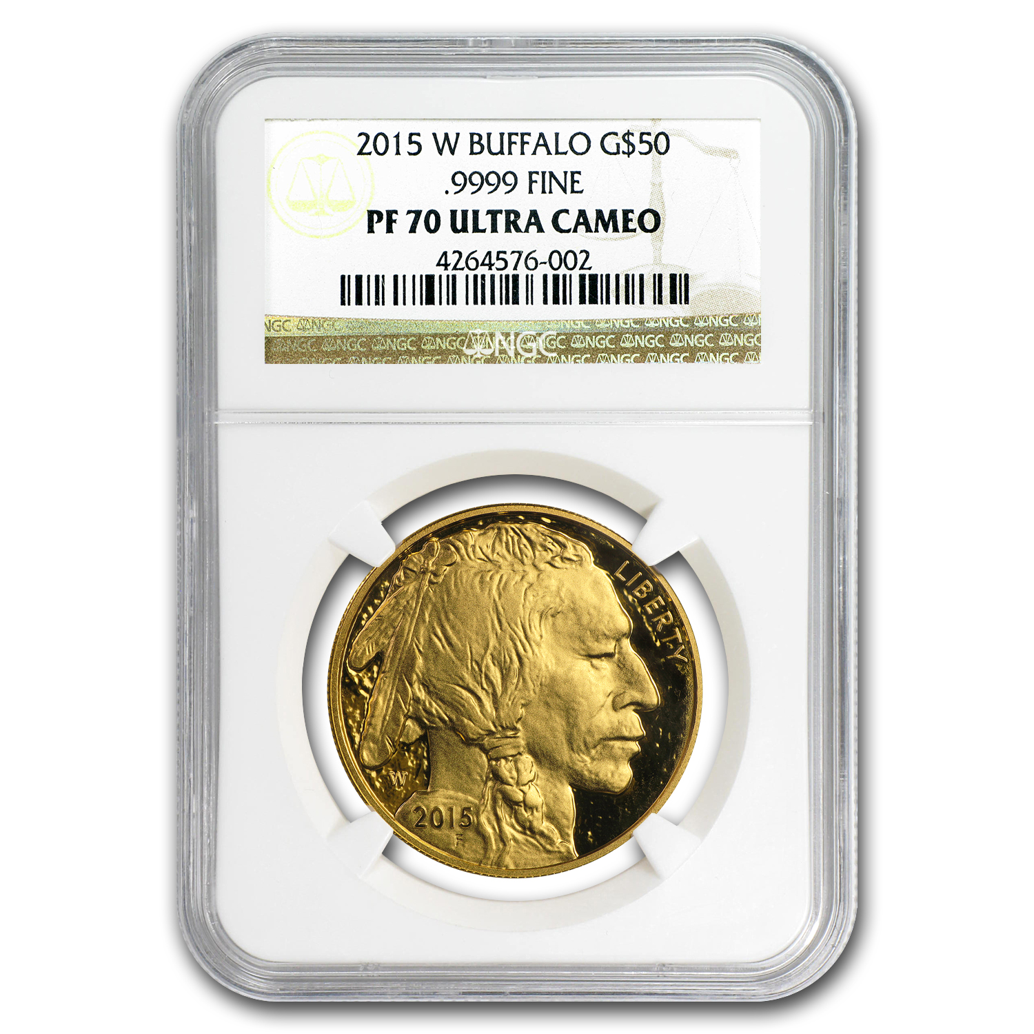 2015-W 1 oz Proof Gold Buffalo PF-70 NGC