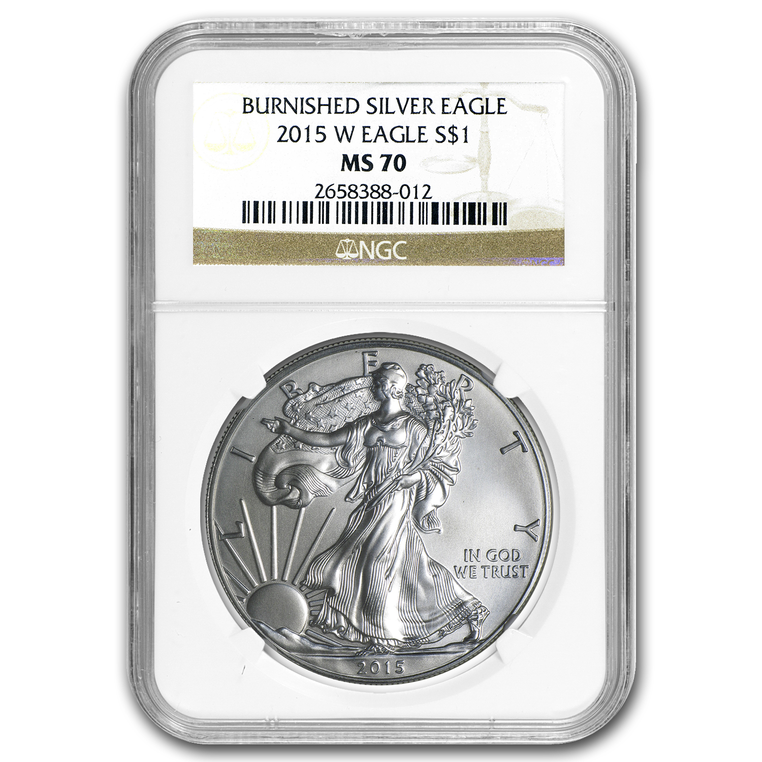 2015-W Burnished Silver Eagle MS-70 NGC