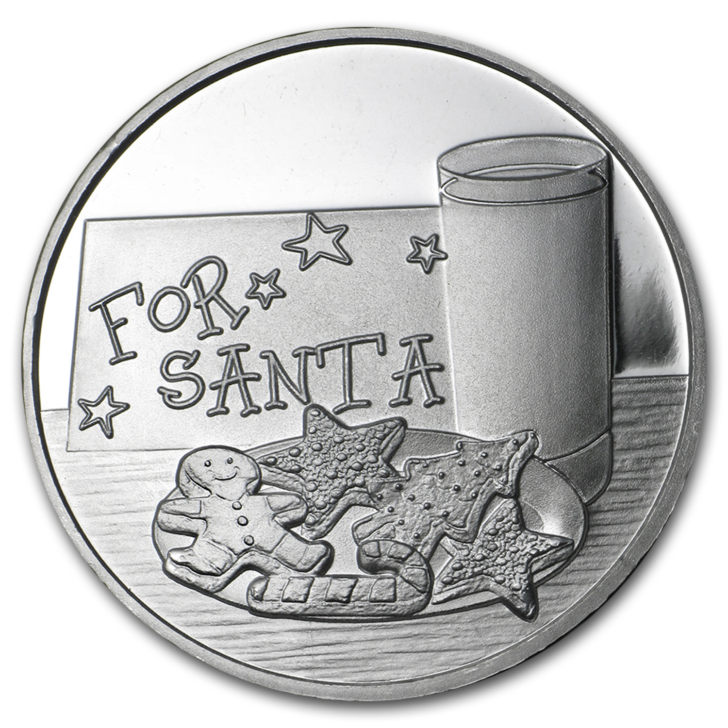 1 oz Silver Round - 2015 Cookies for Santa