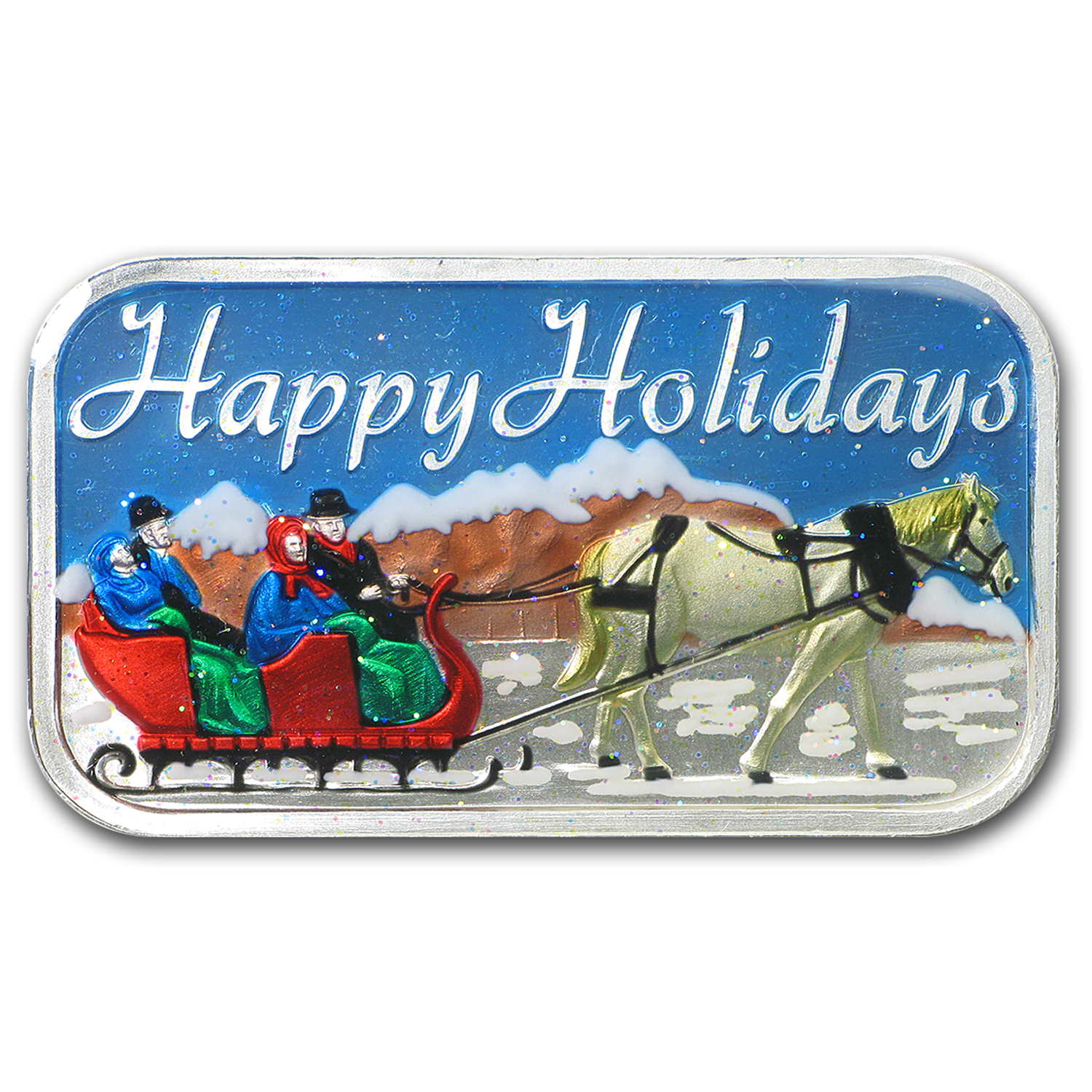 1 oz Silver Bar - 2015 Happy Holiday (Enameled)
