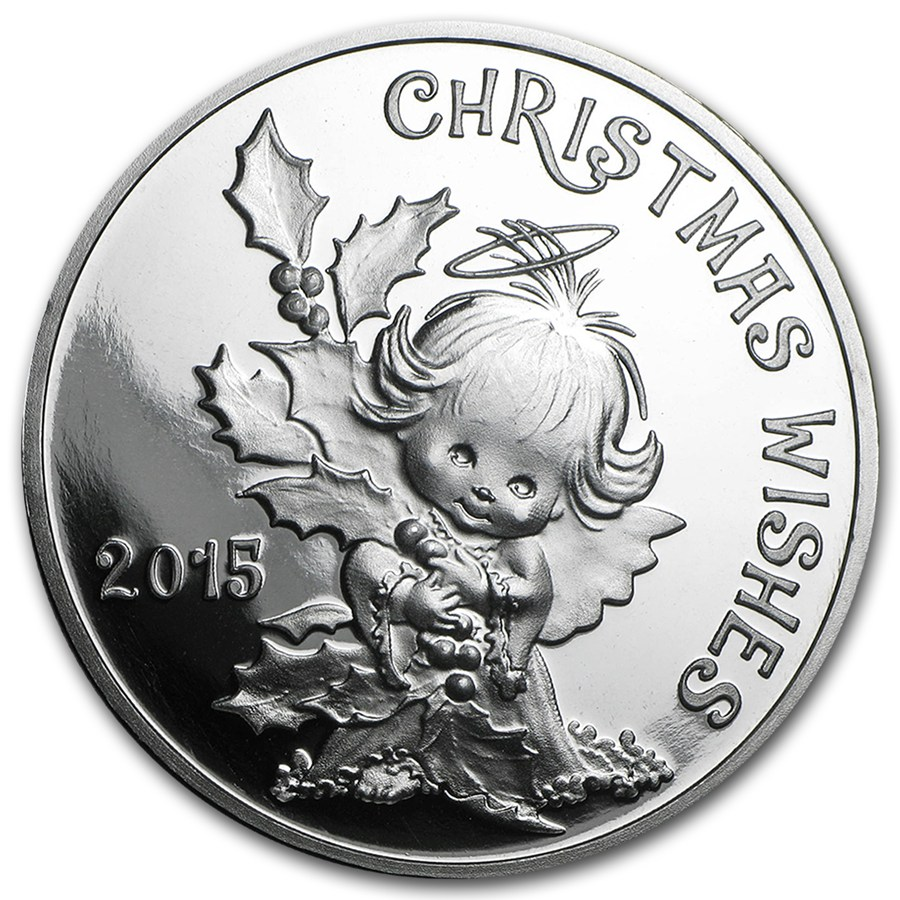 1 Oz Silver Round Christmas Wishes 2015 Christmas Apmex