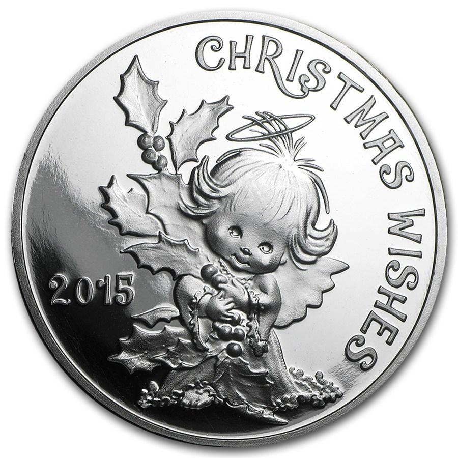 1 Oz Silver Round Christmas Wishes 2015 Christmas Apmex