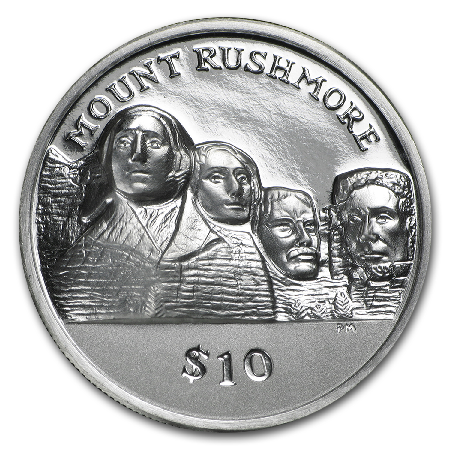 2015 BVI 1 oz Silver Mt. Rushmore Proof (Ultra High Relief)