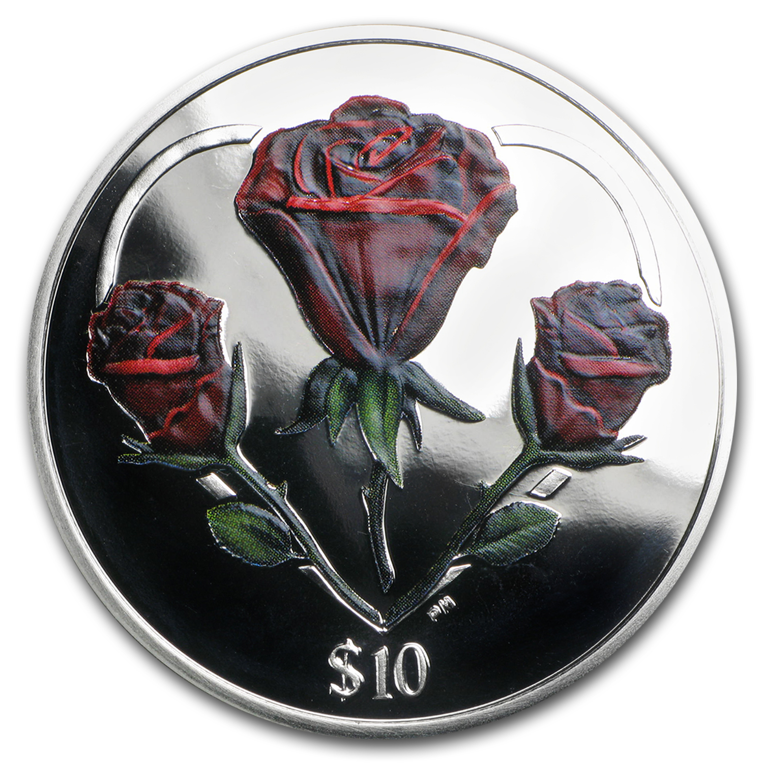 2015 BVI 1 oz silver Rose Proof (Colorized)