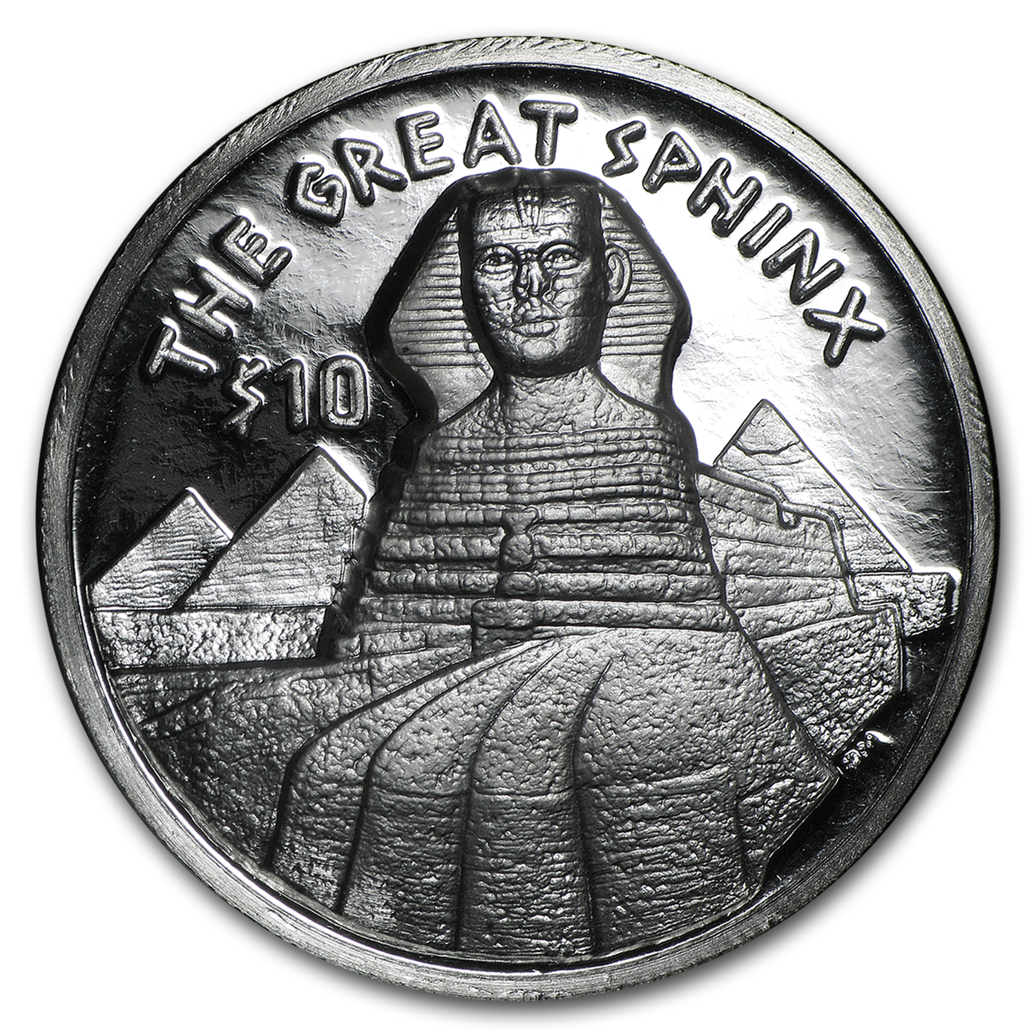 2015 BVI 1 oz silver Great Sphinx Proof (Ultra High Relief)