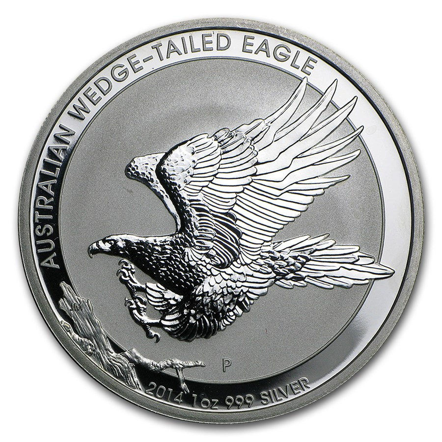 2014 Australia 1 Oz Silver Wedge Tailed Eagle Spotted