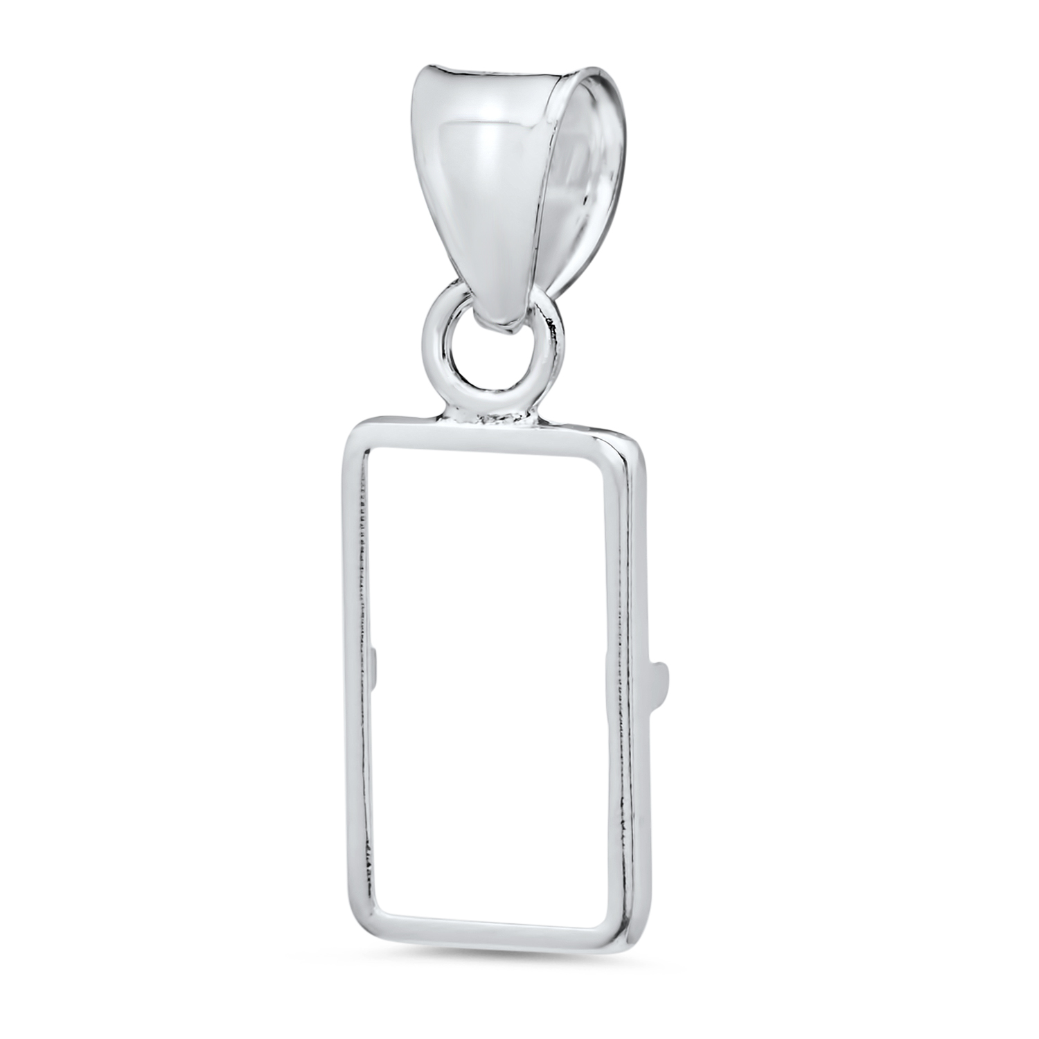 Sterling Silver Prong Back Bezels (Fits 1 Gram Bars)