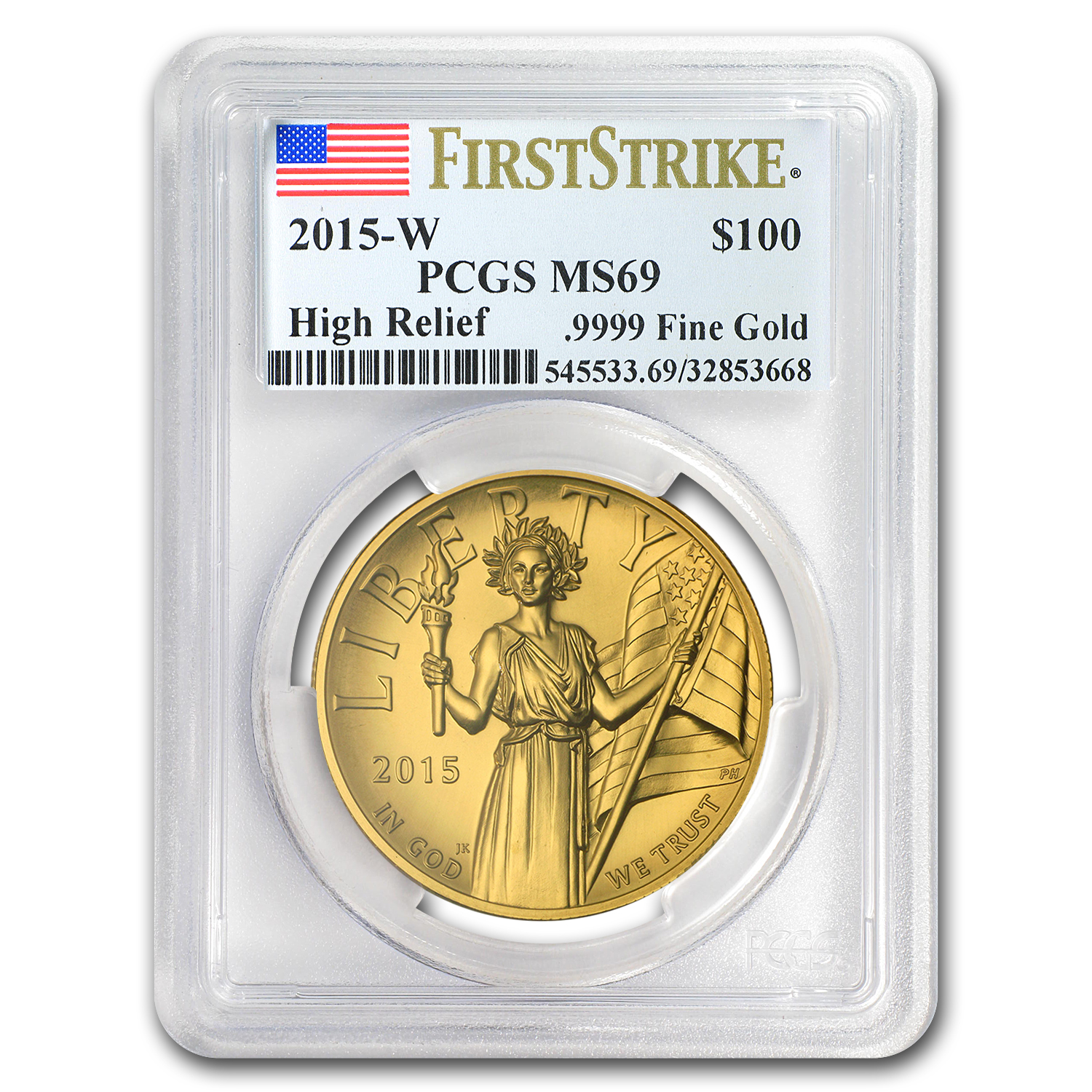 2015 High Relief American Liberty Gold MS-69 PCGS (First Strike)