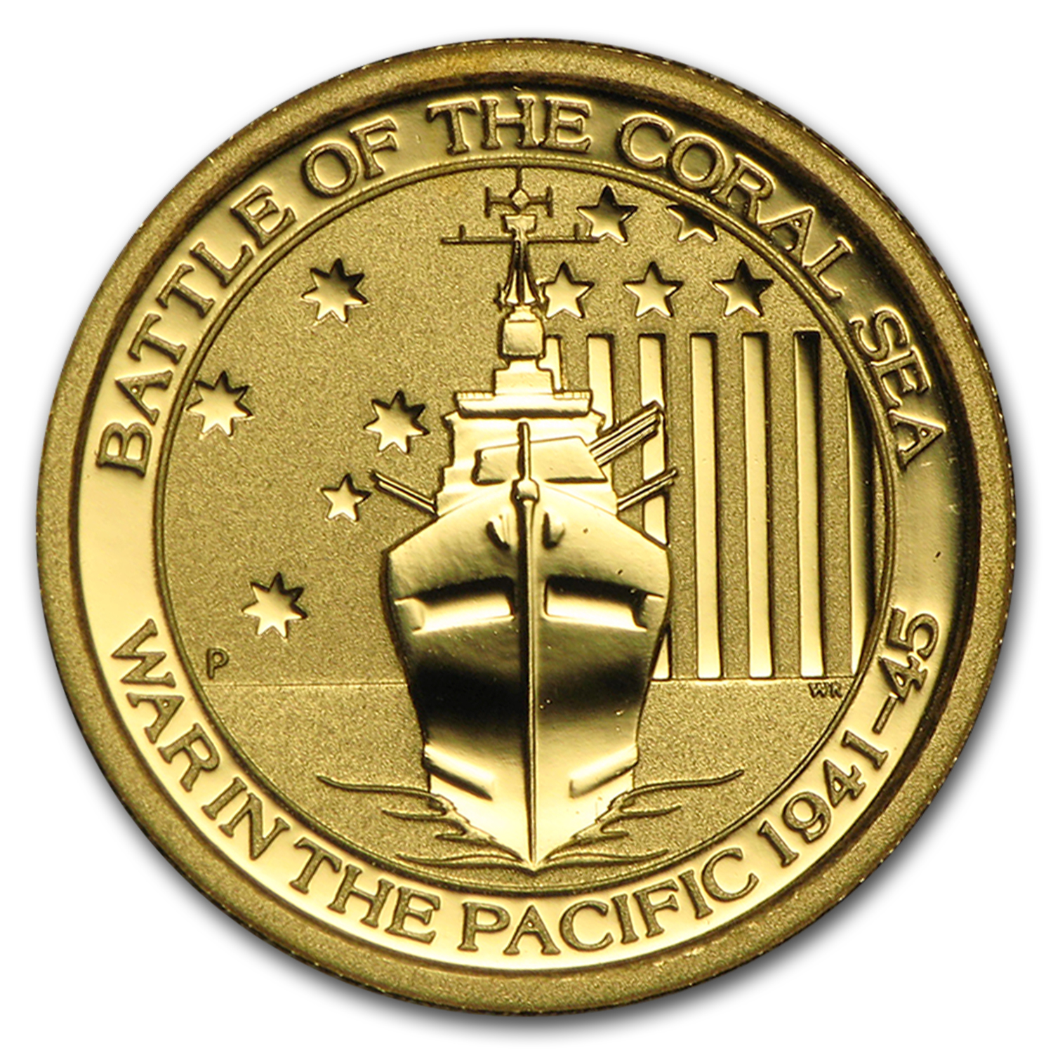 2014 Australia 1/10 oz Gold Battle of the Coral Sea BU