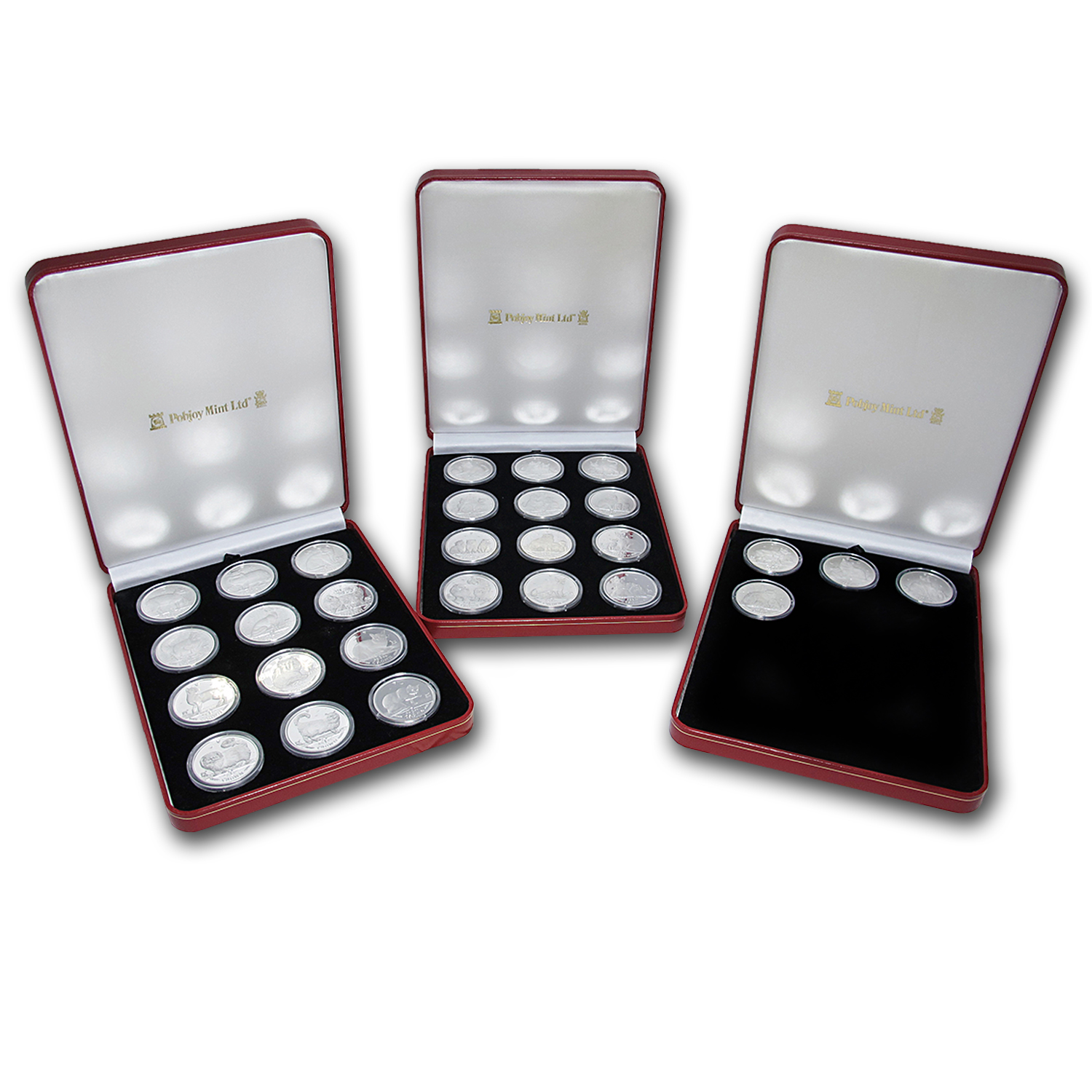 1988-2015 Isle of Man 28-Coin 1 oz Silver Cat Proof Set