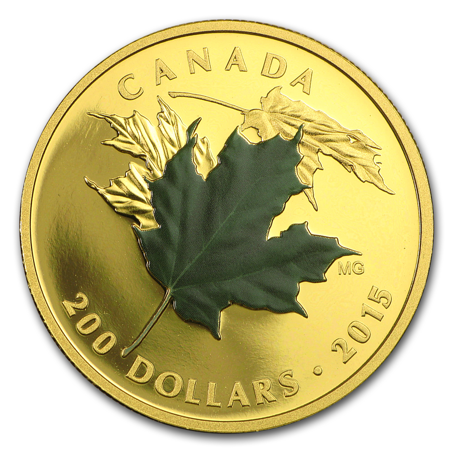 2015 Canada 3-Coin Gold $200 Maple Leafs of Fall Proof Set